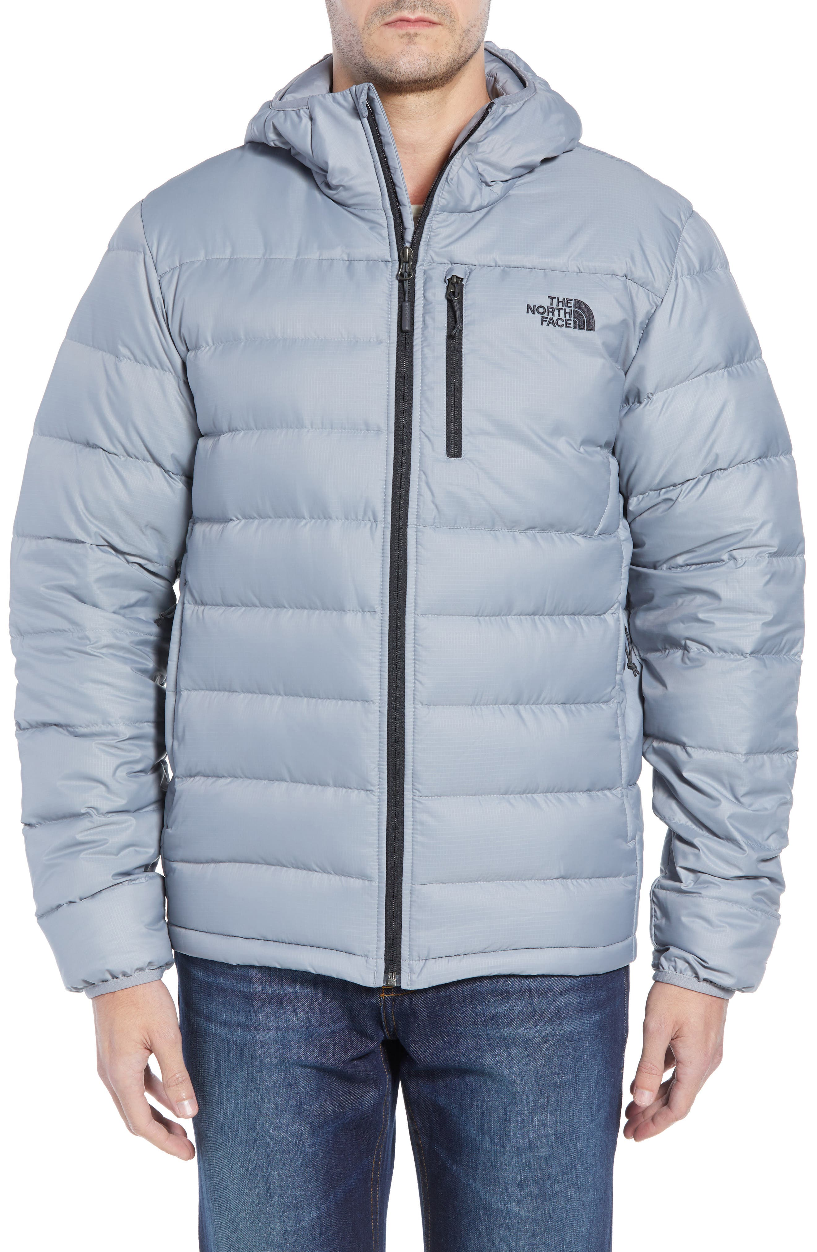 Aconcagua Down Hooded Jacket,                             Alternate thumbnail 4, color,                             MID GREY