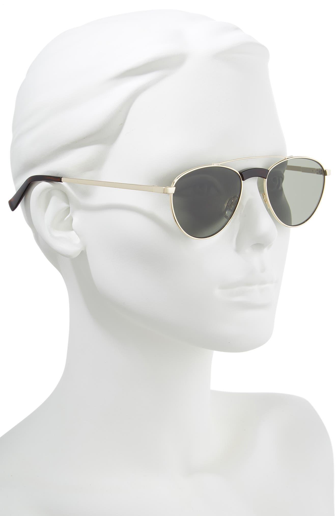 Rocket Man 52mm Aviator Sunglasses,                             Alternate thumbnail 2, color,                             BRIGHT GOLD