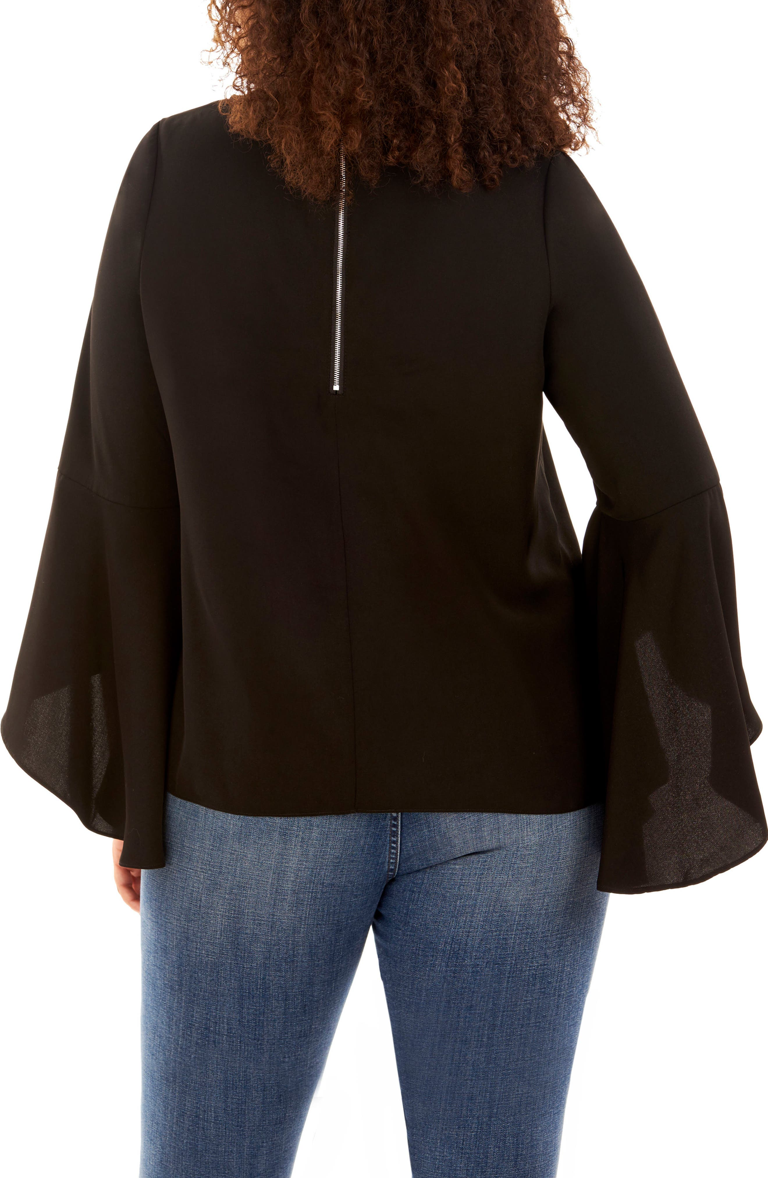 Bell Sleeve Top,                             Alternate thumbnail 2, color,                             002