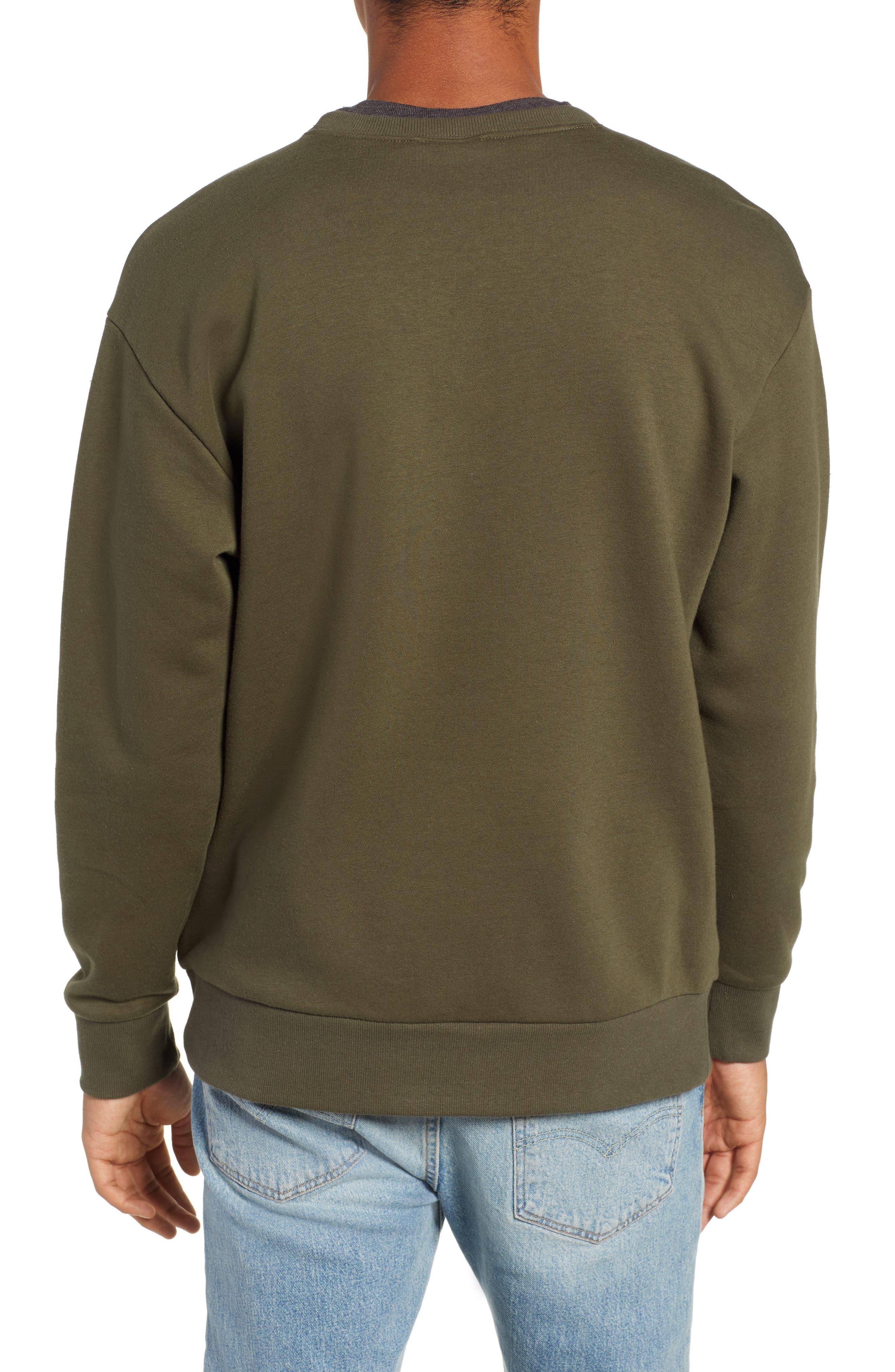 Bugasweat Crewneck Sweatshirt,                             Alternate thumbnail 2, color,                             PEATMOSS
