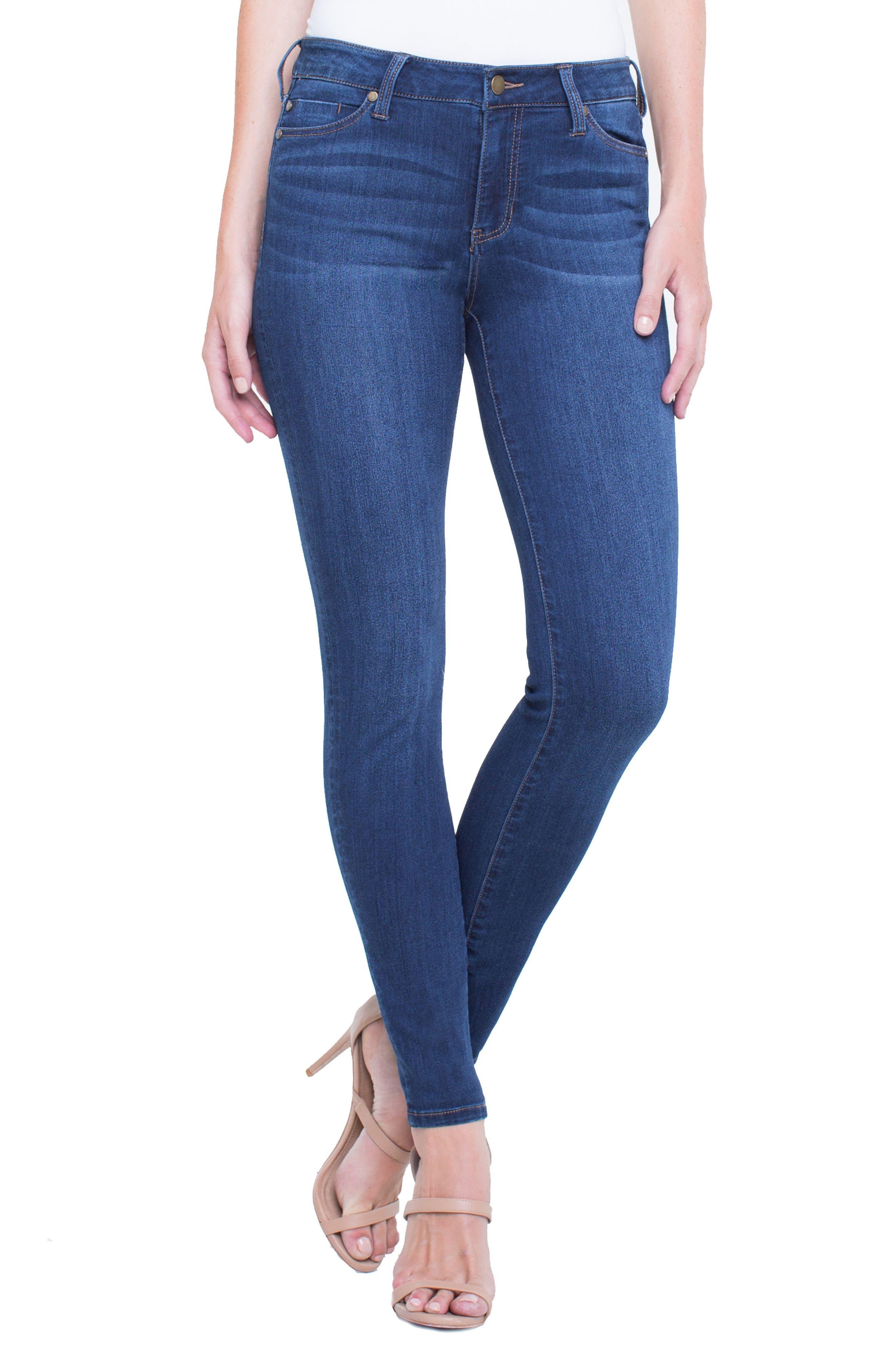 Abby Skinny Jeans,                         Main,                         color, SAN ANDREAS DARK
