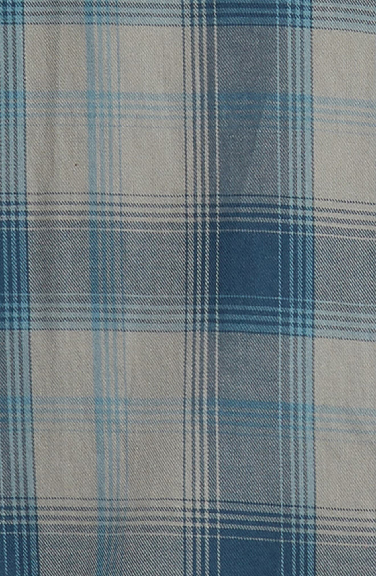Insider Regular Fit Plaid Flannel Sport Shirt,                             Alternate thumbnail 6, color,                             BLUE WING TEAL