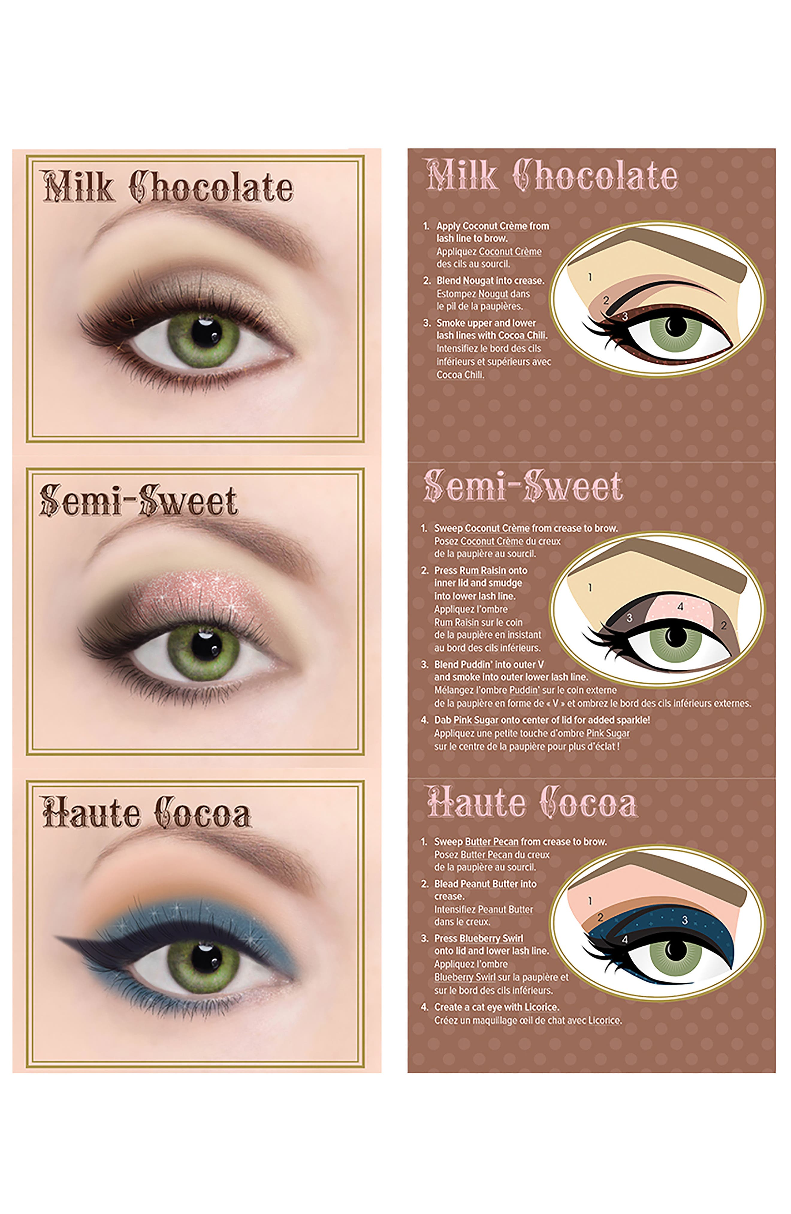 TOO FACED,                             Semi-Sweet Chocolate Bar Eyeshadow Palette,                             Alternate thumbnail 3, color,                             NO COLOR