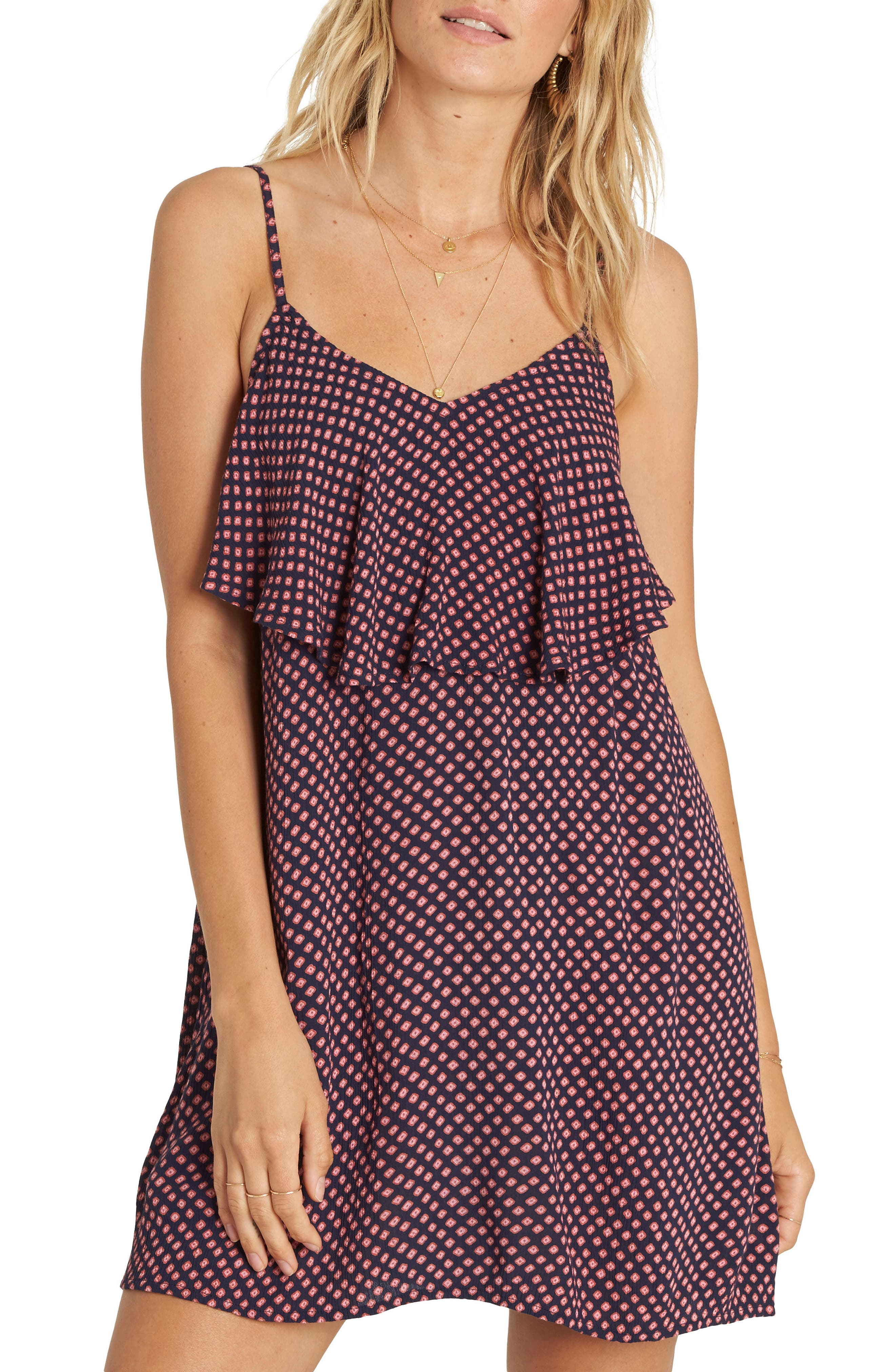 Done Down Ruffle Dress,                         Main,                         color, 410