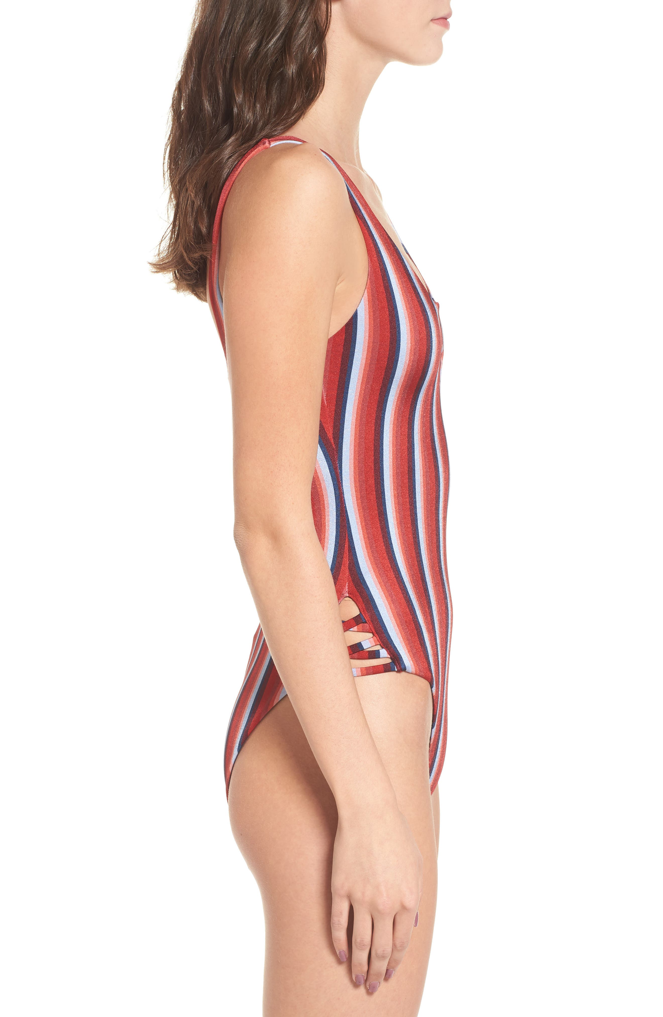Tidal One-Piece Swimsuit,                             Alternate thumbnail 3, color,                             600