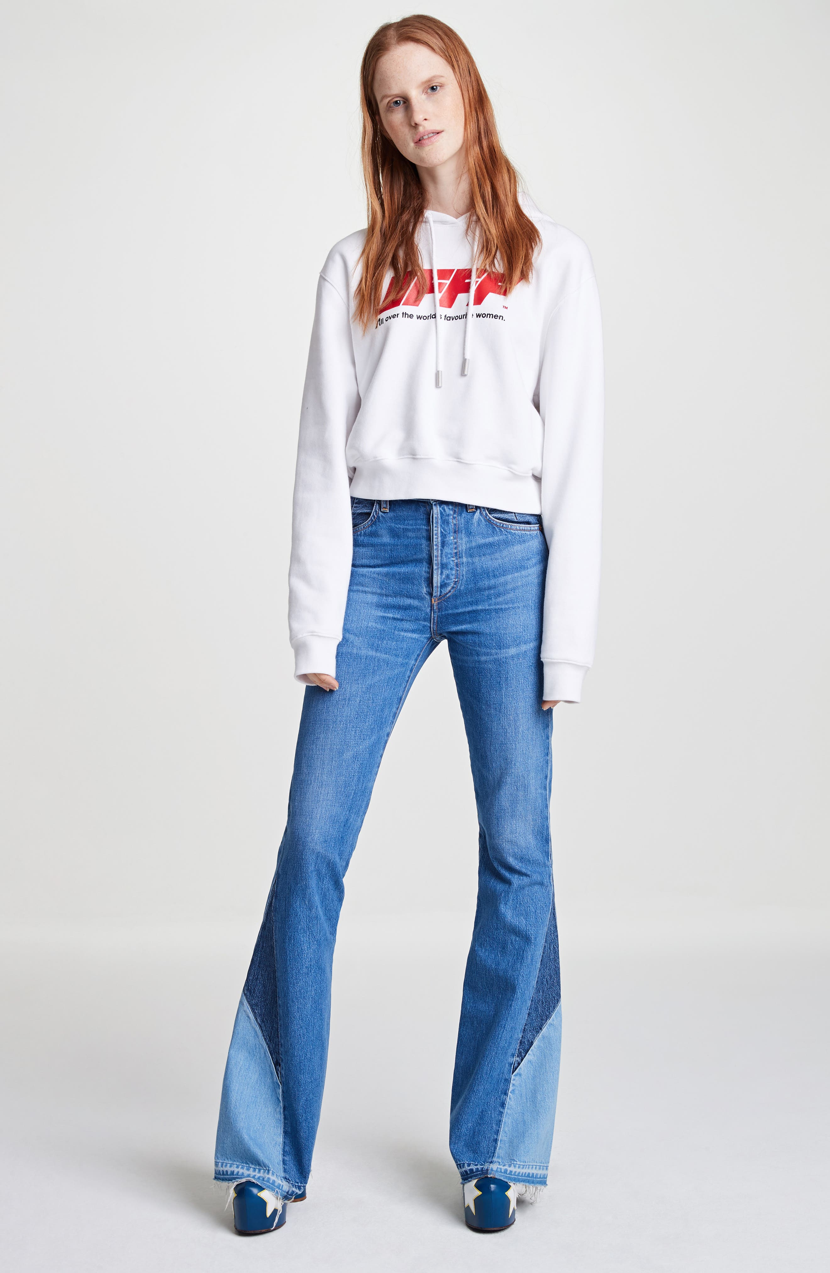 Janis High Rise Flare Jeans,                             Alternate thumbnail 9, color,                             JAGGER