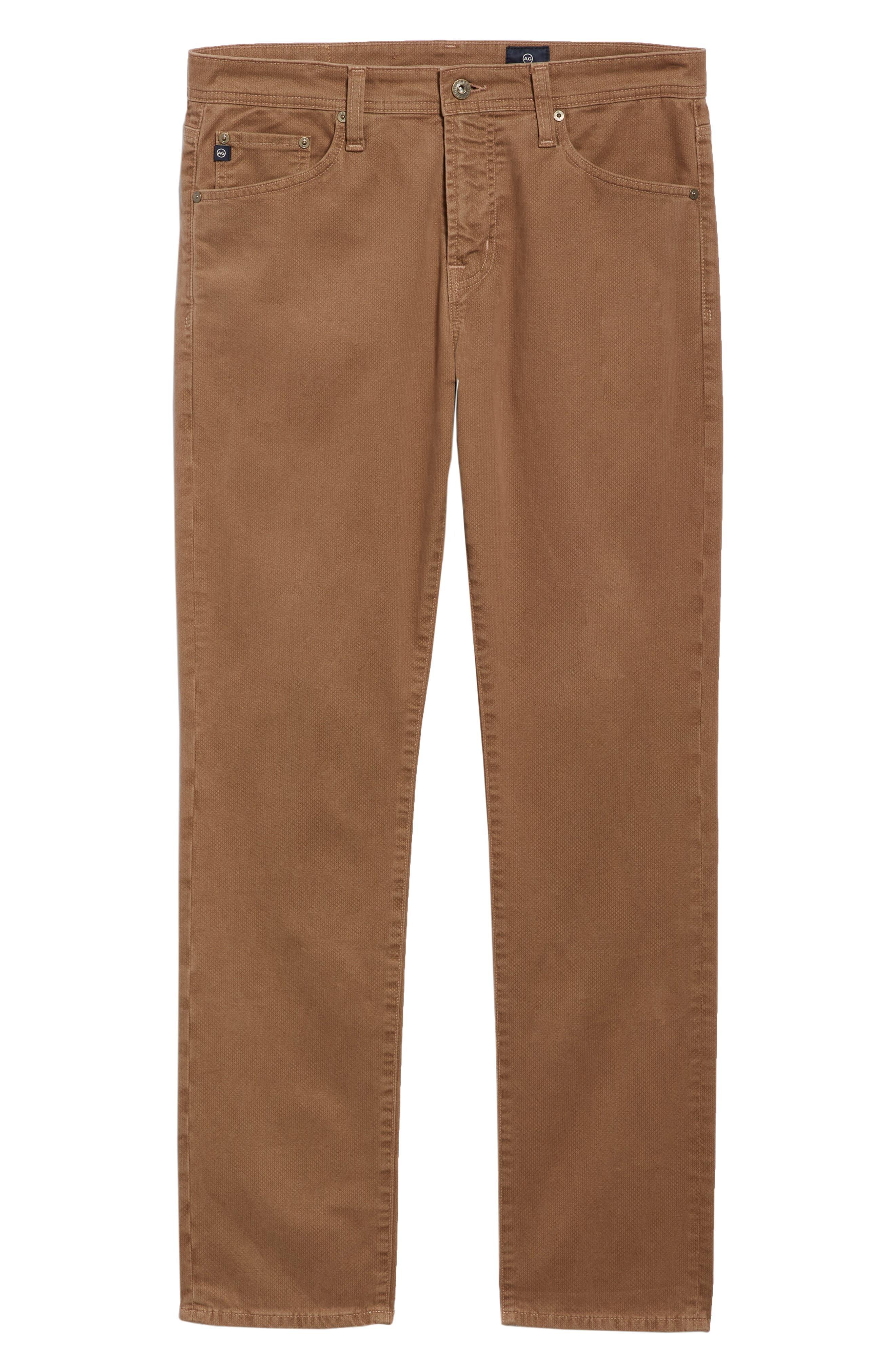 Everett SUD Print Slim Straight Leg Pants,                             Alternate thumbnail 6, color,                             MICRO GEO WHEAT