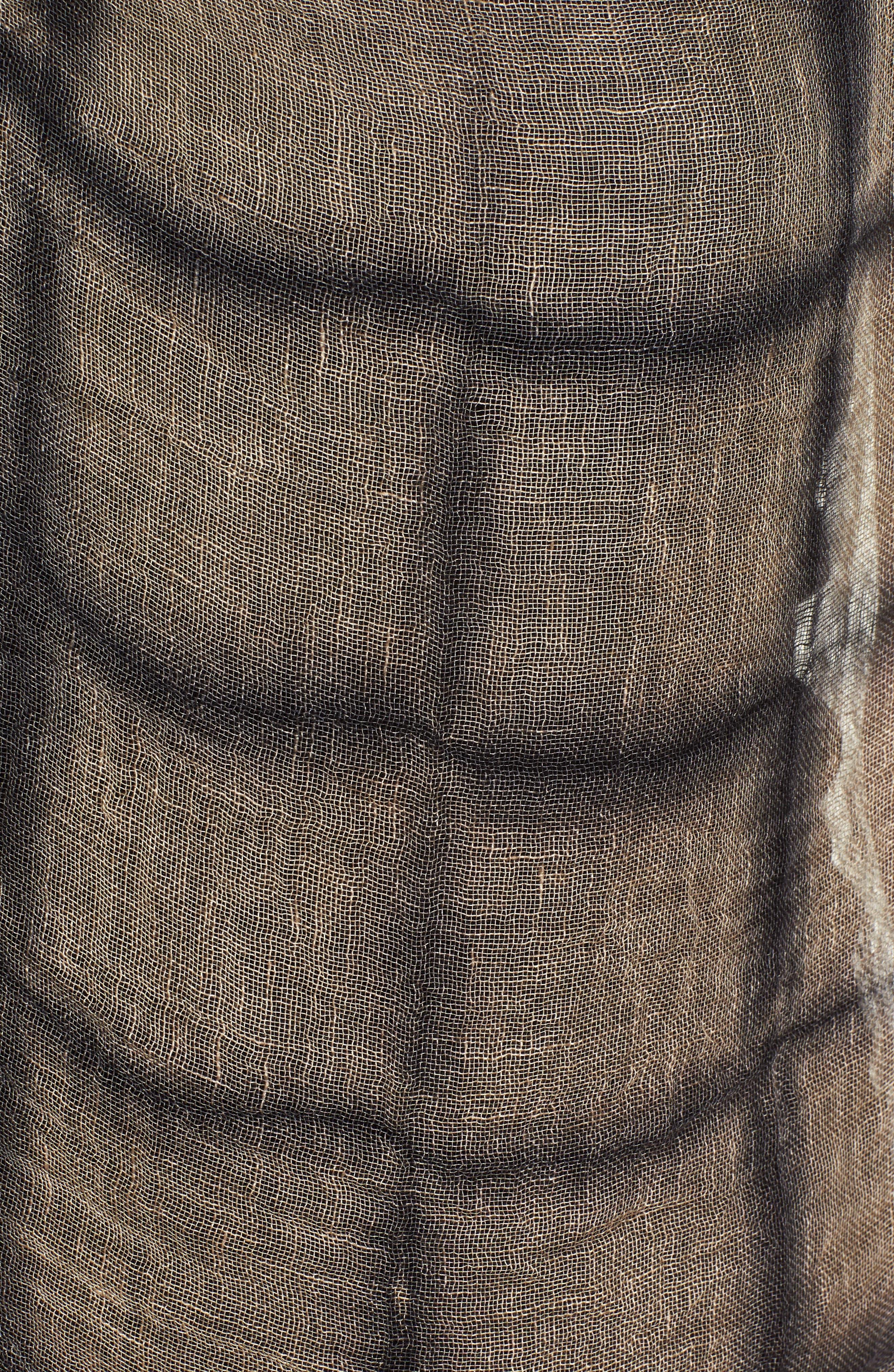 Organic Linen Poncho,                             Alternate thumbnail 5, color,                             001