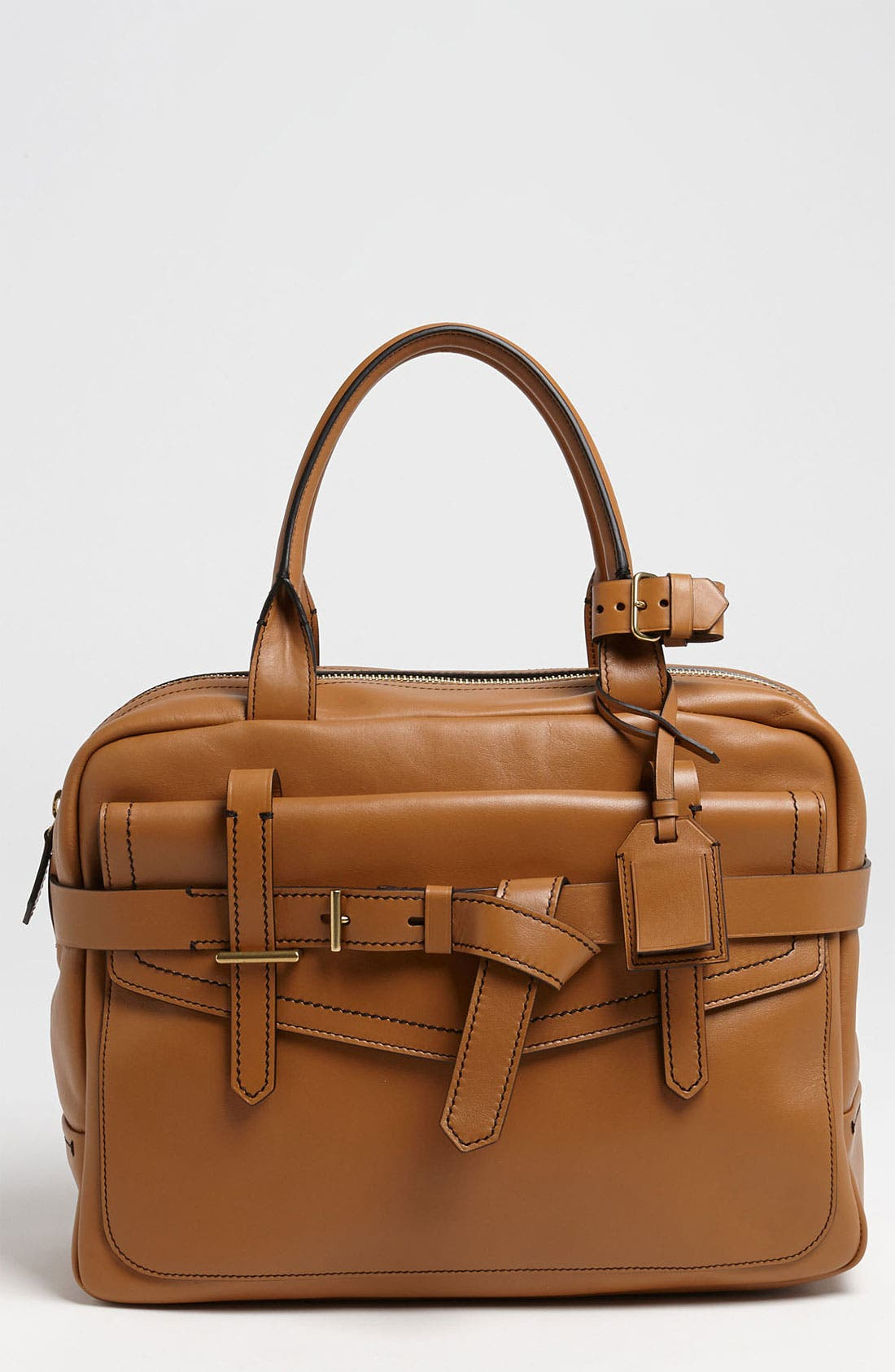 'Fighter' Leather Satchel,                             Main thumbnail 1, color,                             200