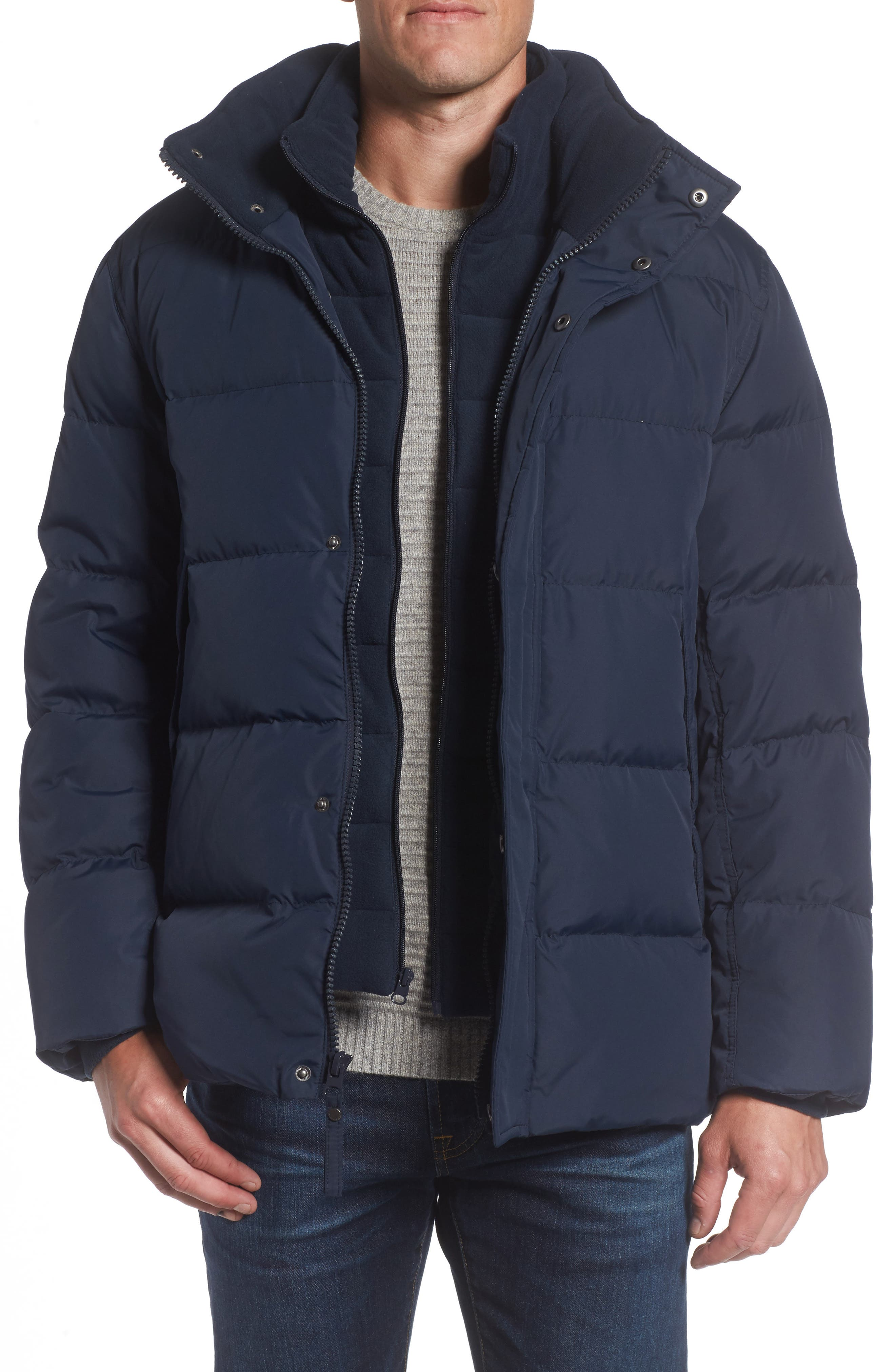 Andrew Marc Carlton Quilted Parka,                             Main thumbnail 4, color,