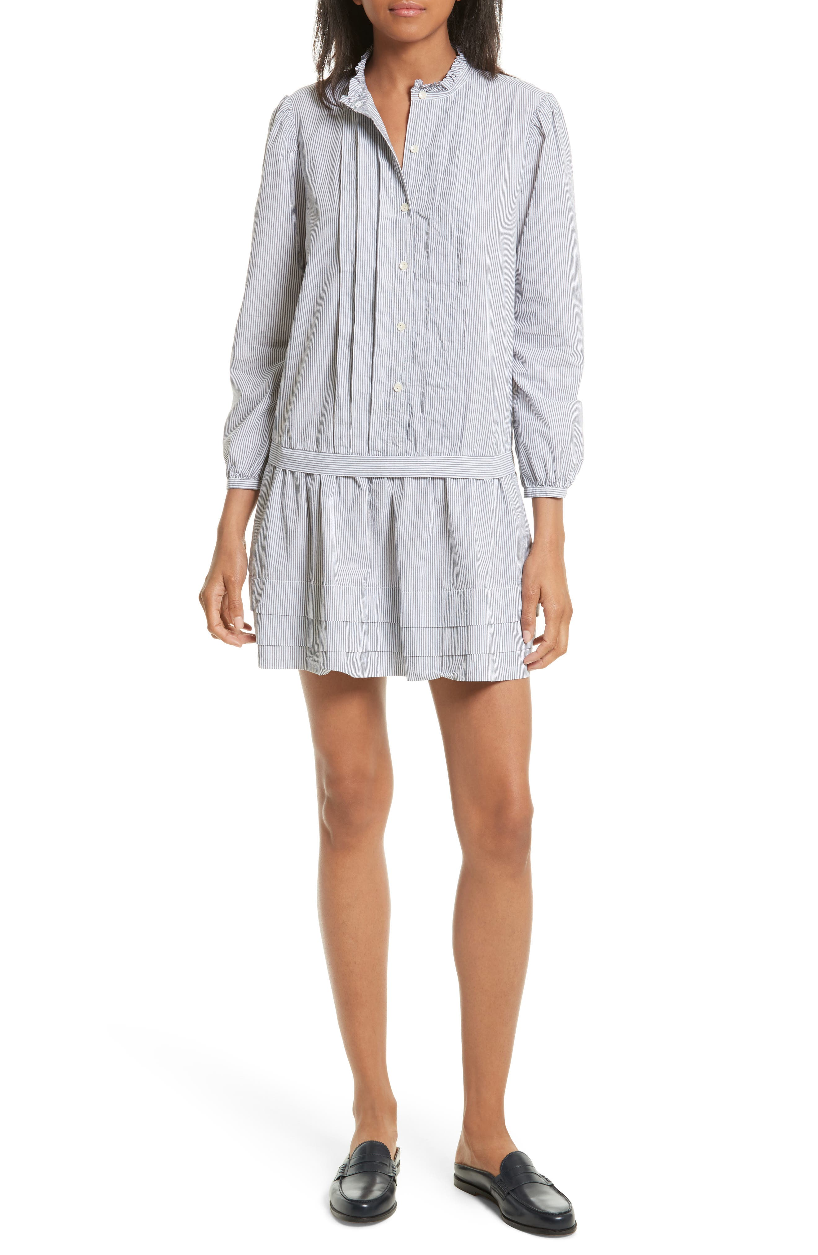 Cotton Shirtdress,                         Main,                         color, 001