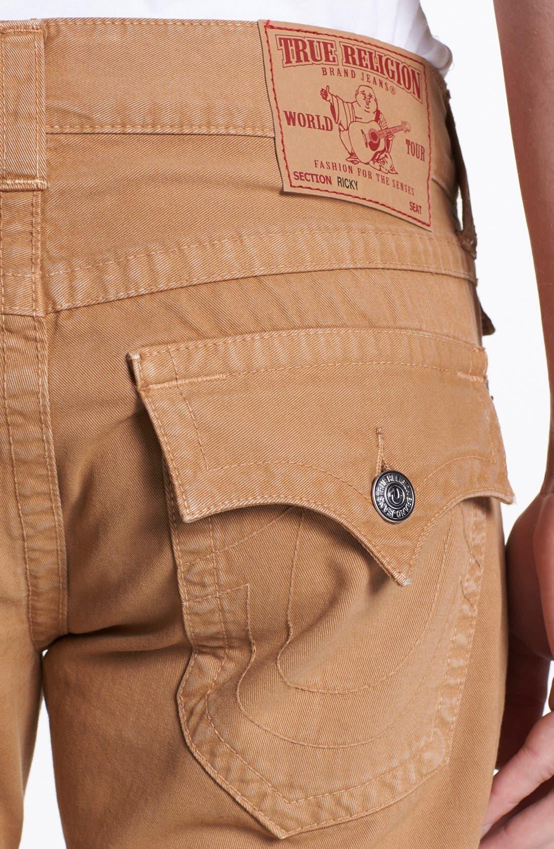 'Ricky' Straight Leg Cotton Twill Pants,                             Alternate thumbnail 8, color,