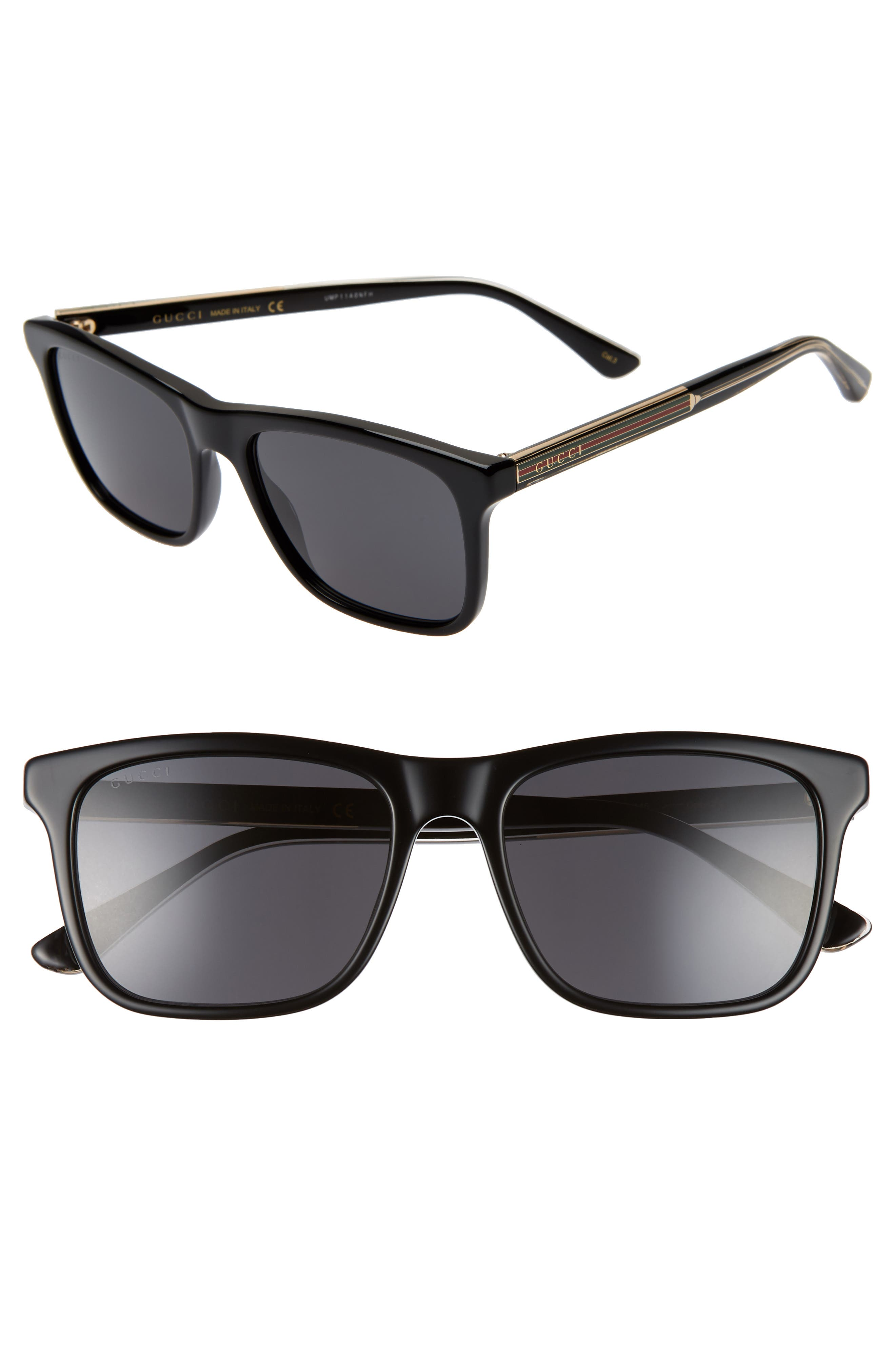 55mm Polarized Sunglasses, Main, color, 001