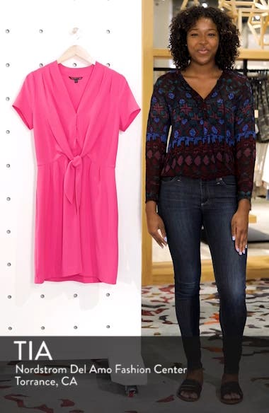 Tie Front Sheath Dress, sales video thumbnail
