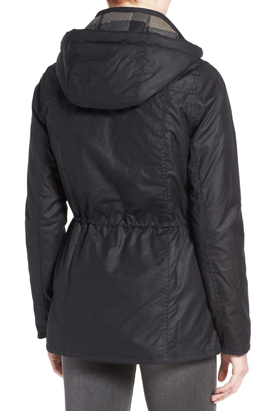 'Orkney' Waxed Cotton Anorak with Removable Hood,                             Alternate thumbnail 3, color,                             410