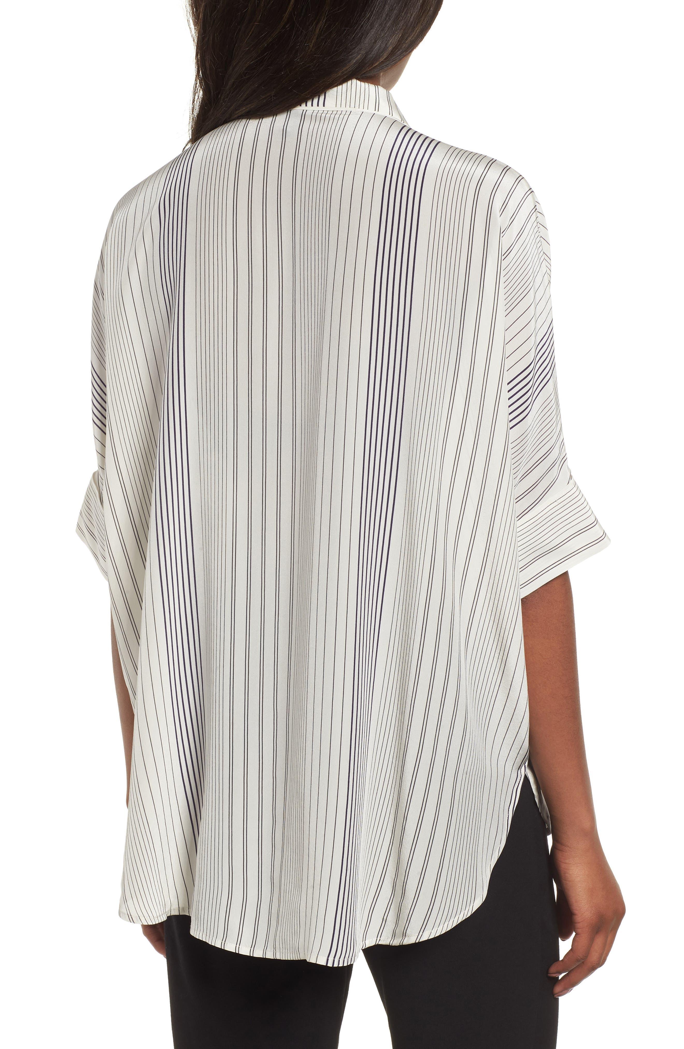 Stripe Silk Shirt,                             Alternate thumbnail 2, color,                             907