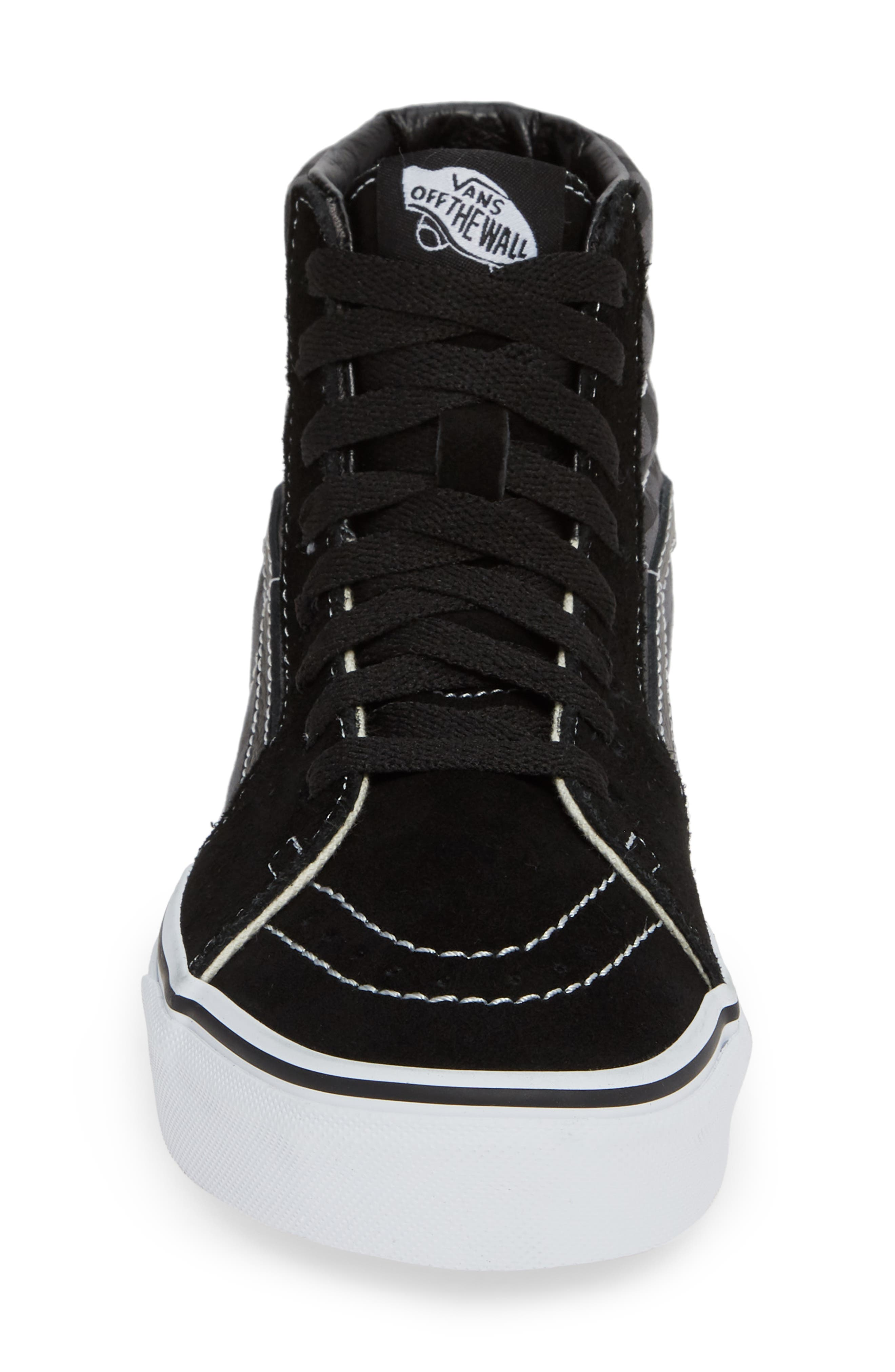Sk8-Hi Checker Sneaker,                             Alternate thumbnail 4, color,                             BLACK/ PEWTER CHECKERBOARD