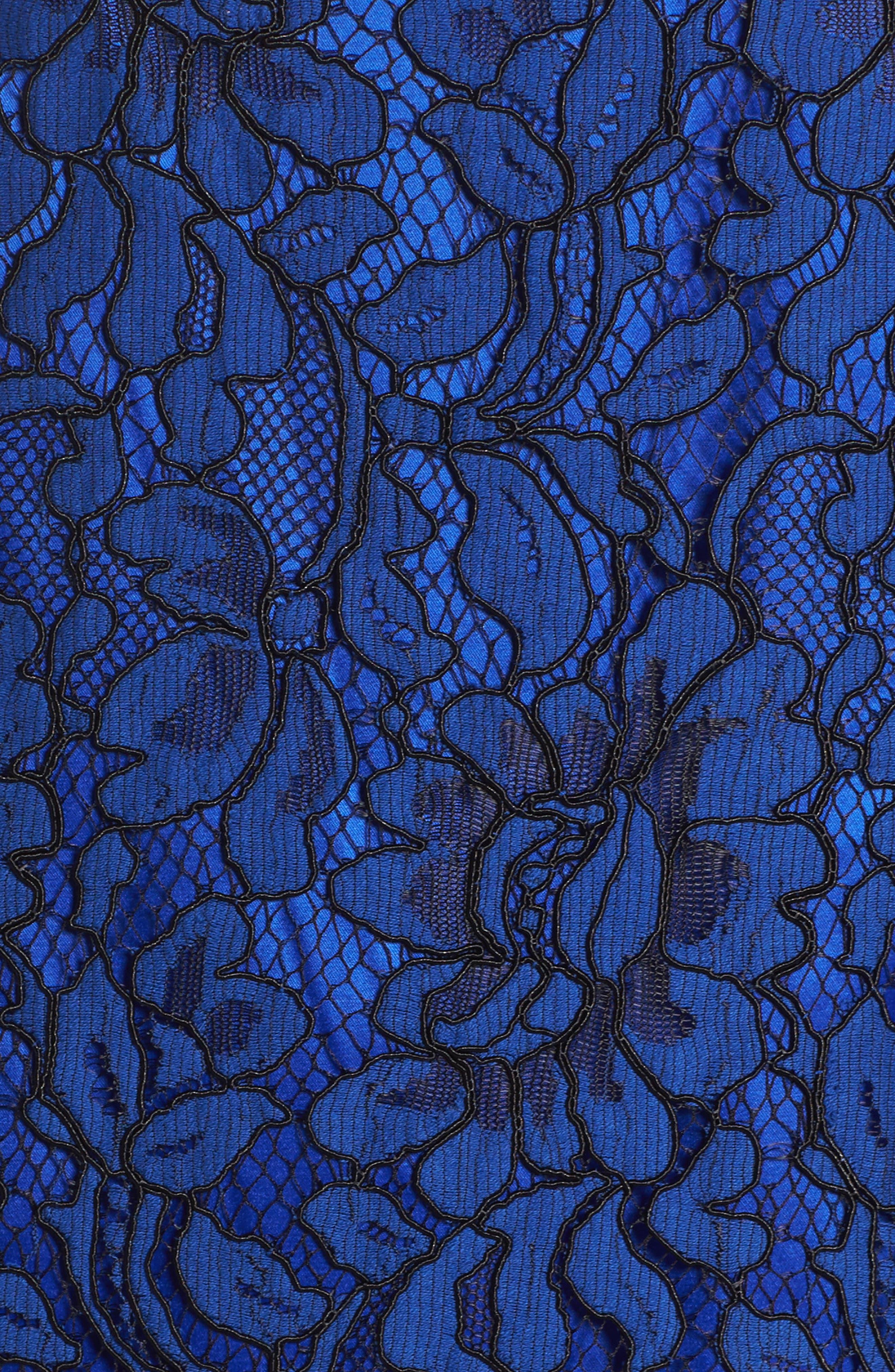 Lace Cold Shoulder Dress,                             Alternate thumbnail 5, color,                             430