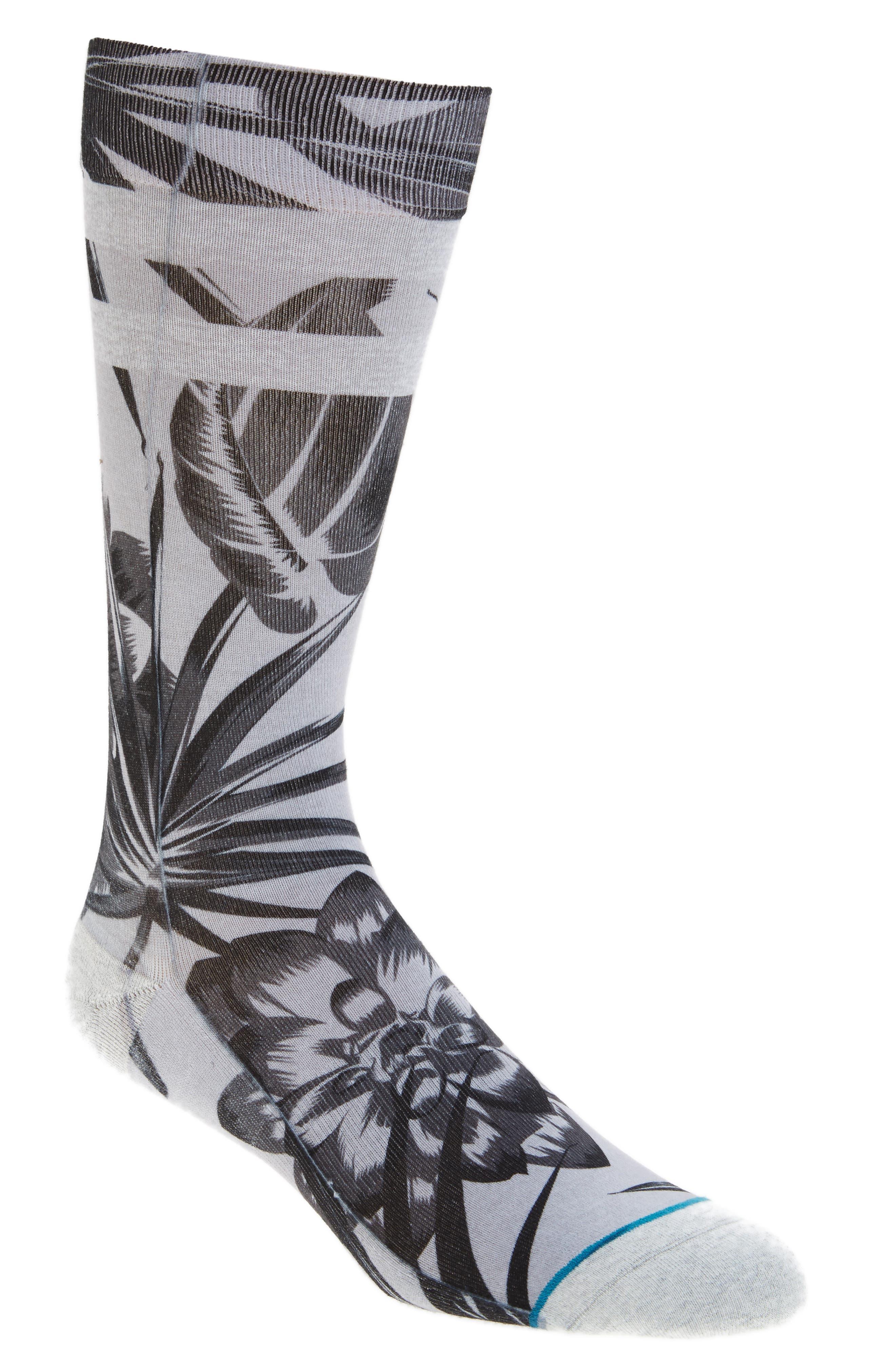 Floralite Crew Socks,                             Main thumbnail 3, color,