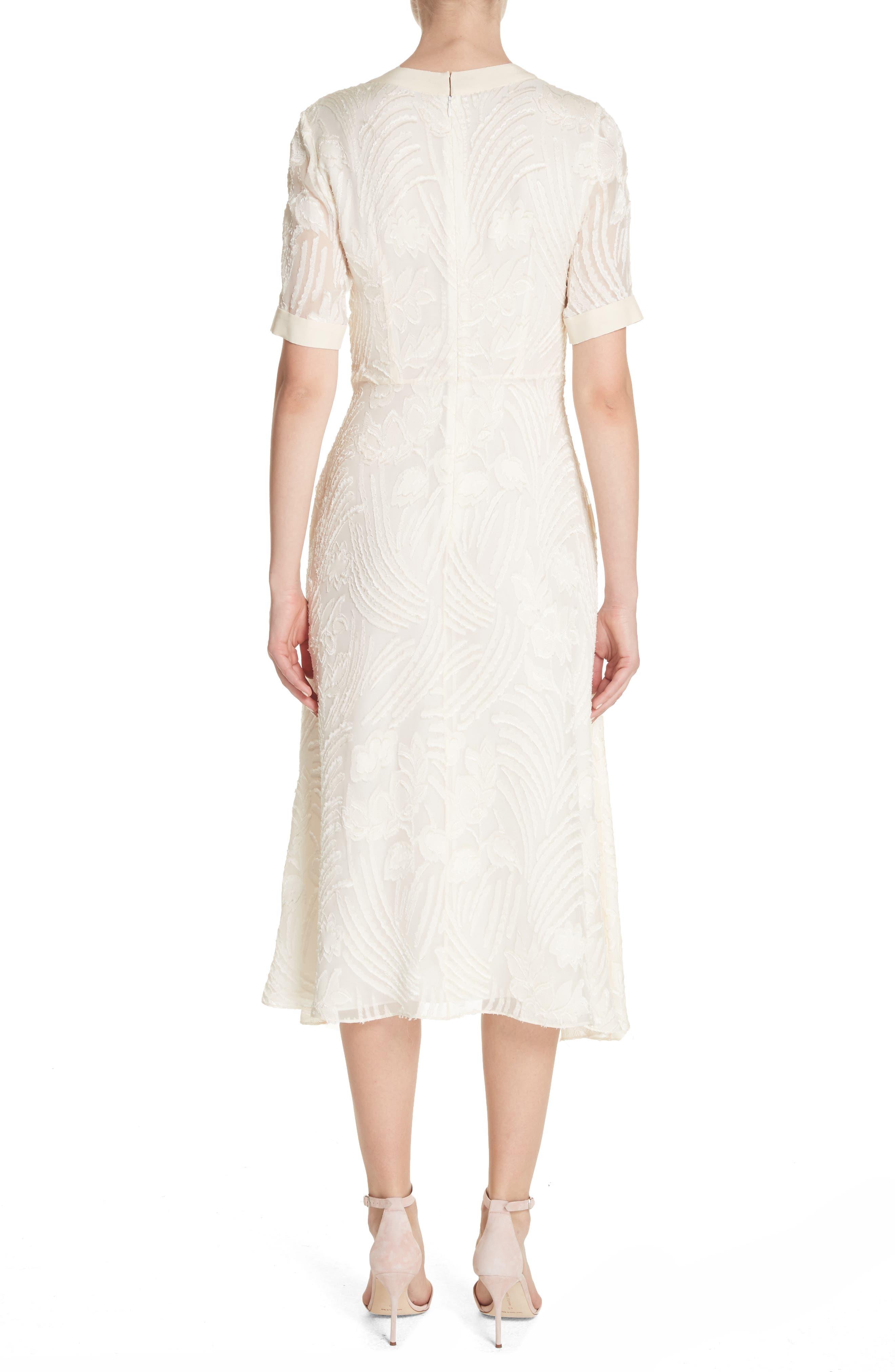 Fil Coupé A-Line Dress,                             Alternate thumbnail 2, color,                             906
