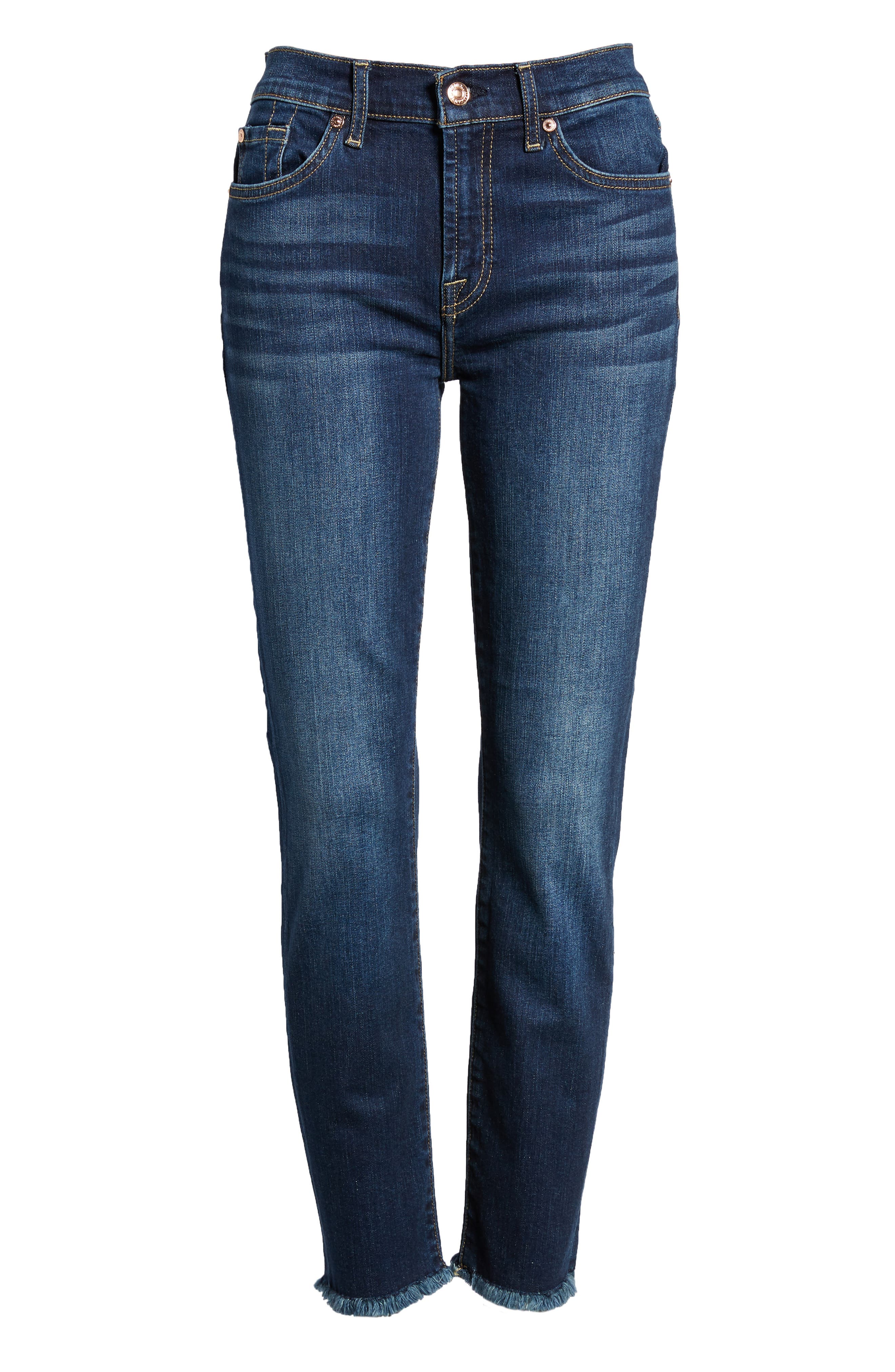 b(air) Roxanne Frayed Ankle Slim Jeans,                             Alternate thumbnail 7, color,                             AUTHENTIC FATE
