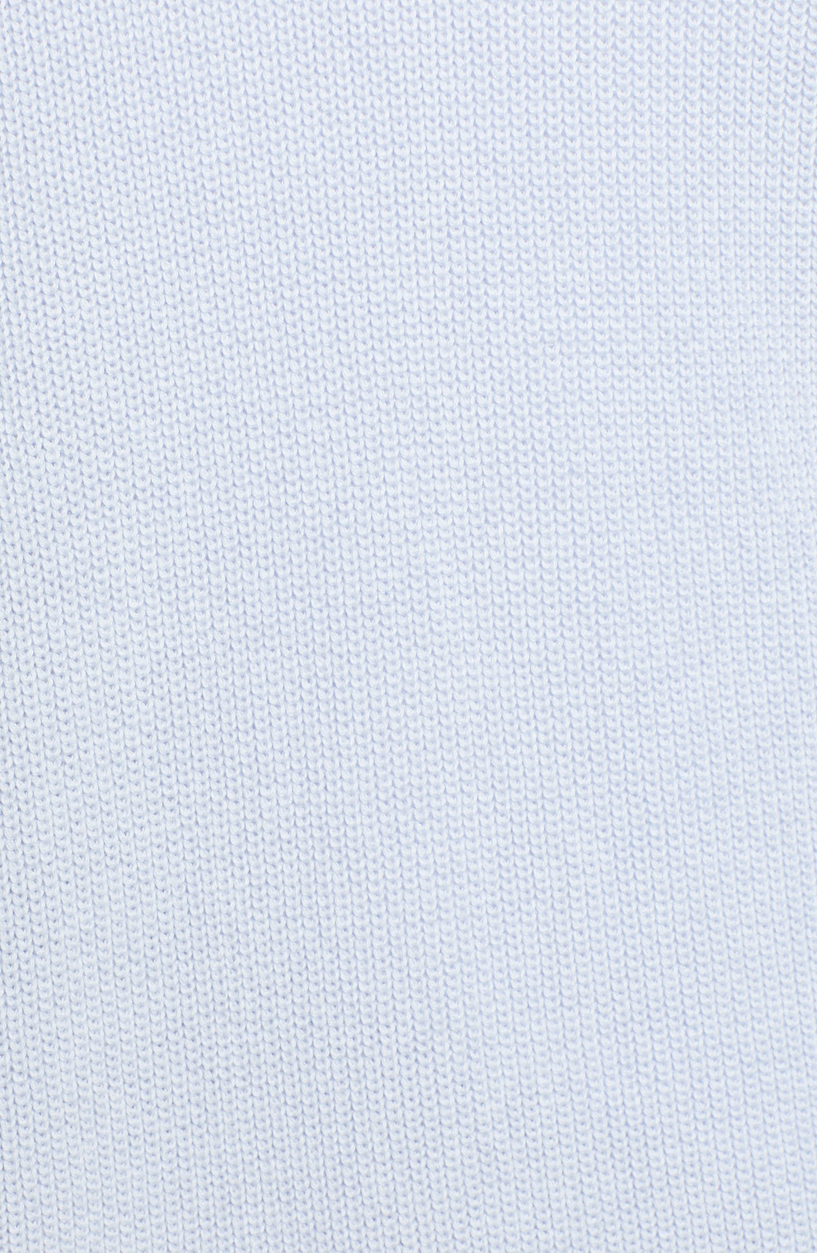 Stitch Curve Hem Cardigan,                             Alternate thumbnail 7, color,                             BLUE FEATHER