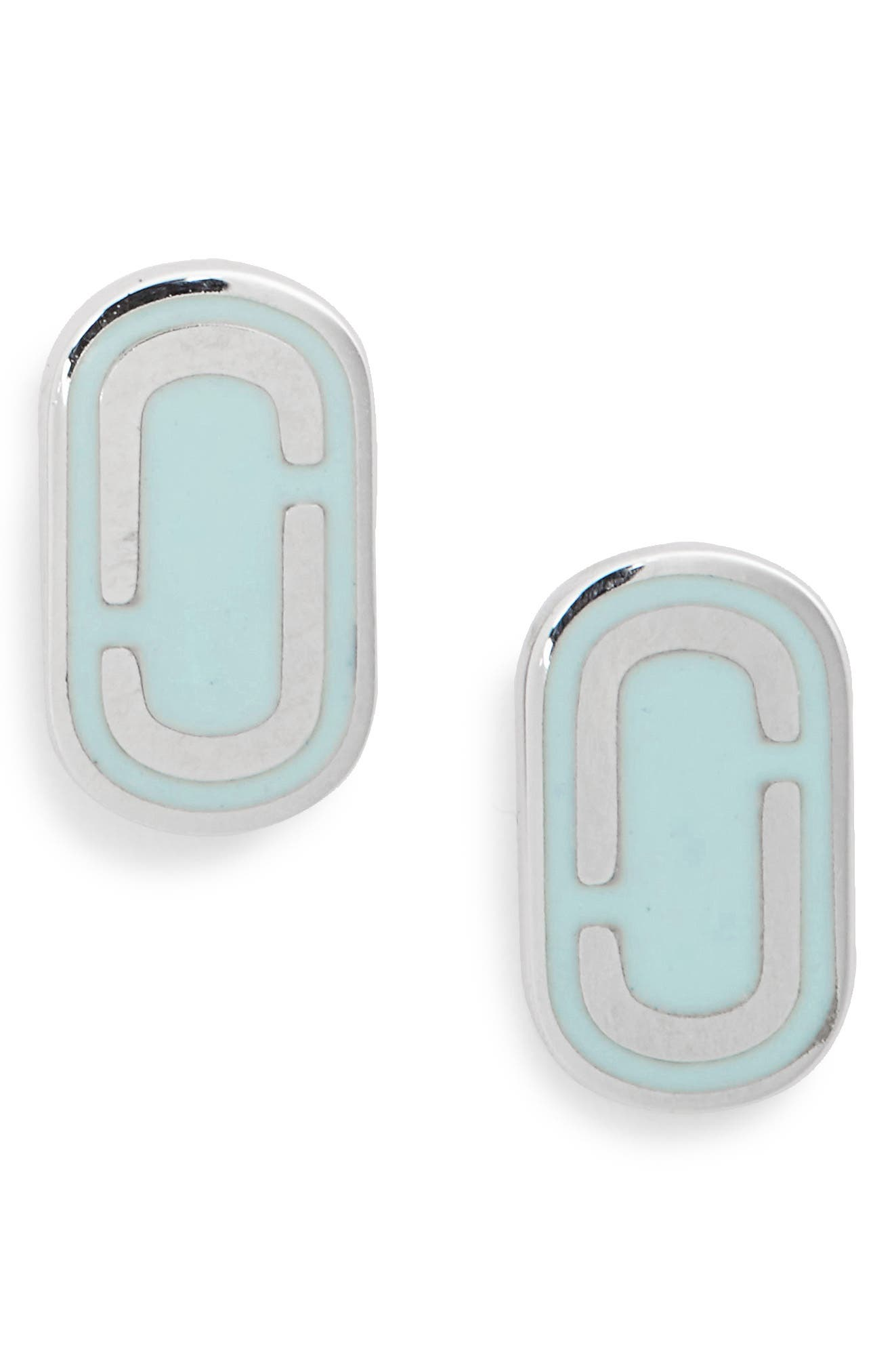 Icon Enamel Stud Earrings,                             Main thumbnail 2, color,