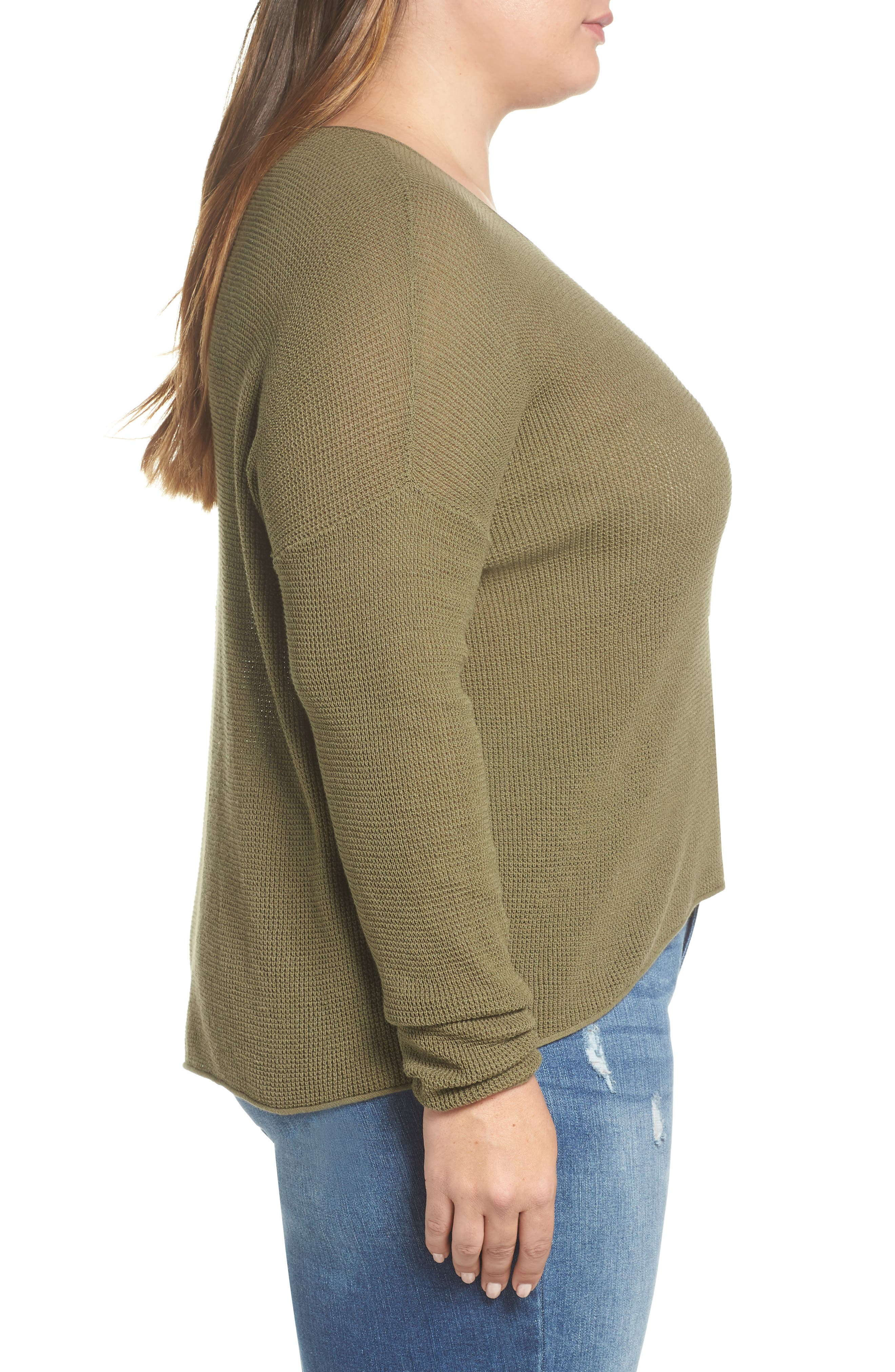 Coastal Thermal Sweater,                             Alternate thumbnail 9, color,                             OLIVE BURNT