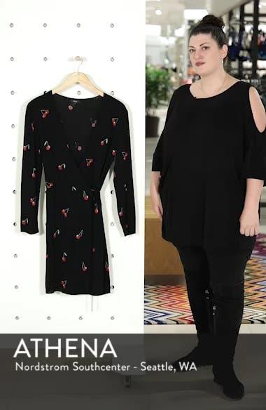 Lola Cherry Print Wrap Dress, sales video thumbnail