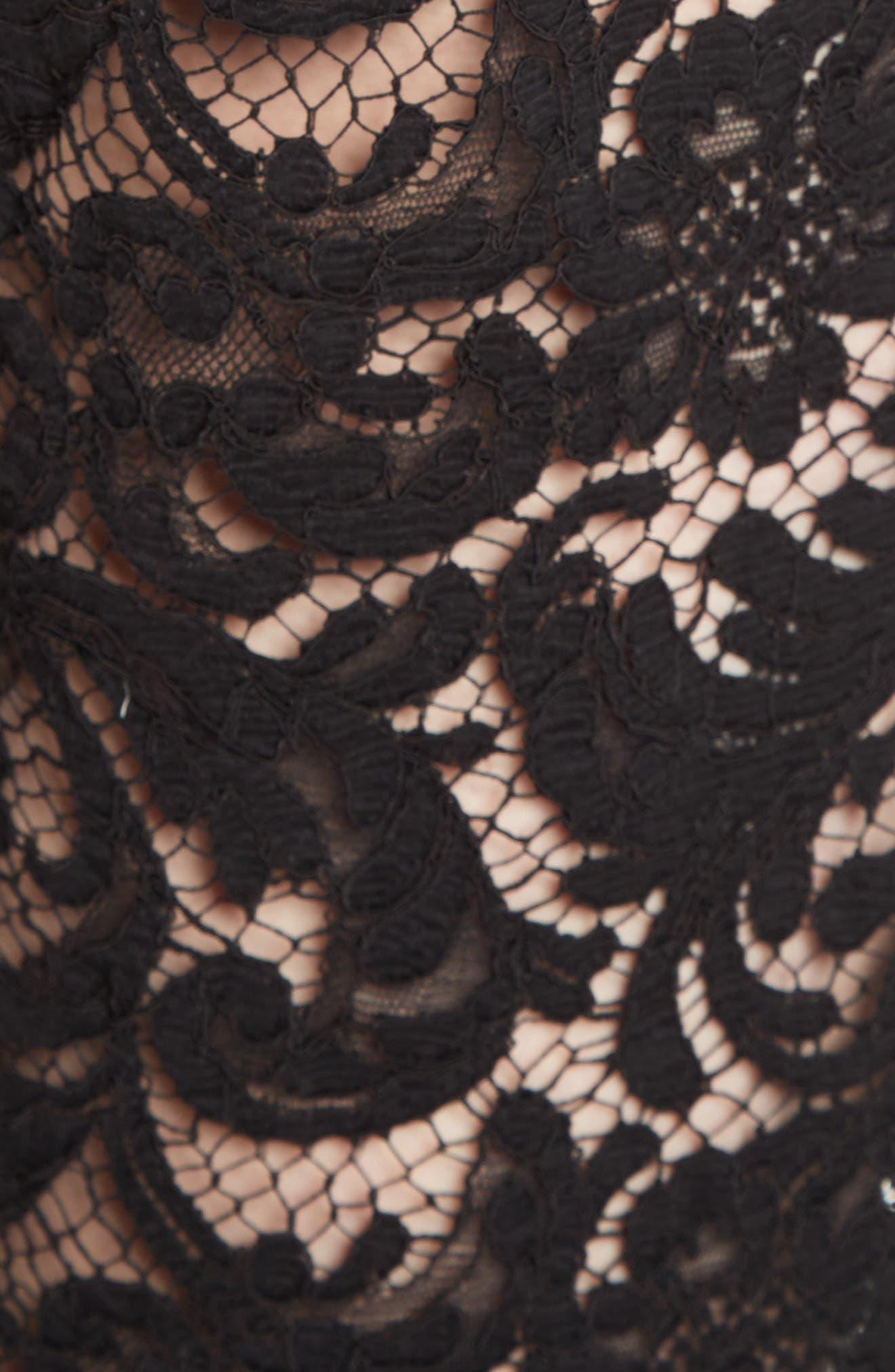 Lace Tuxedo Pants,                             Alternate thumbnail 5, color,                             001