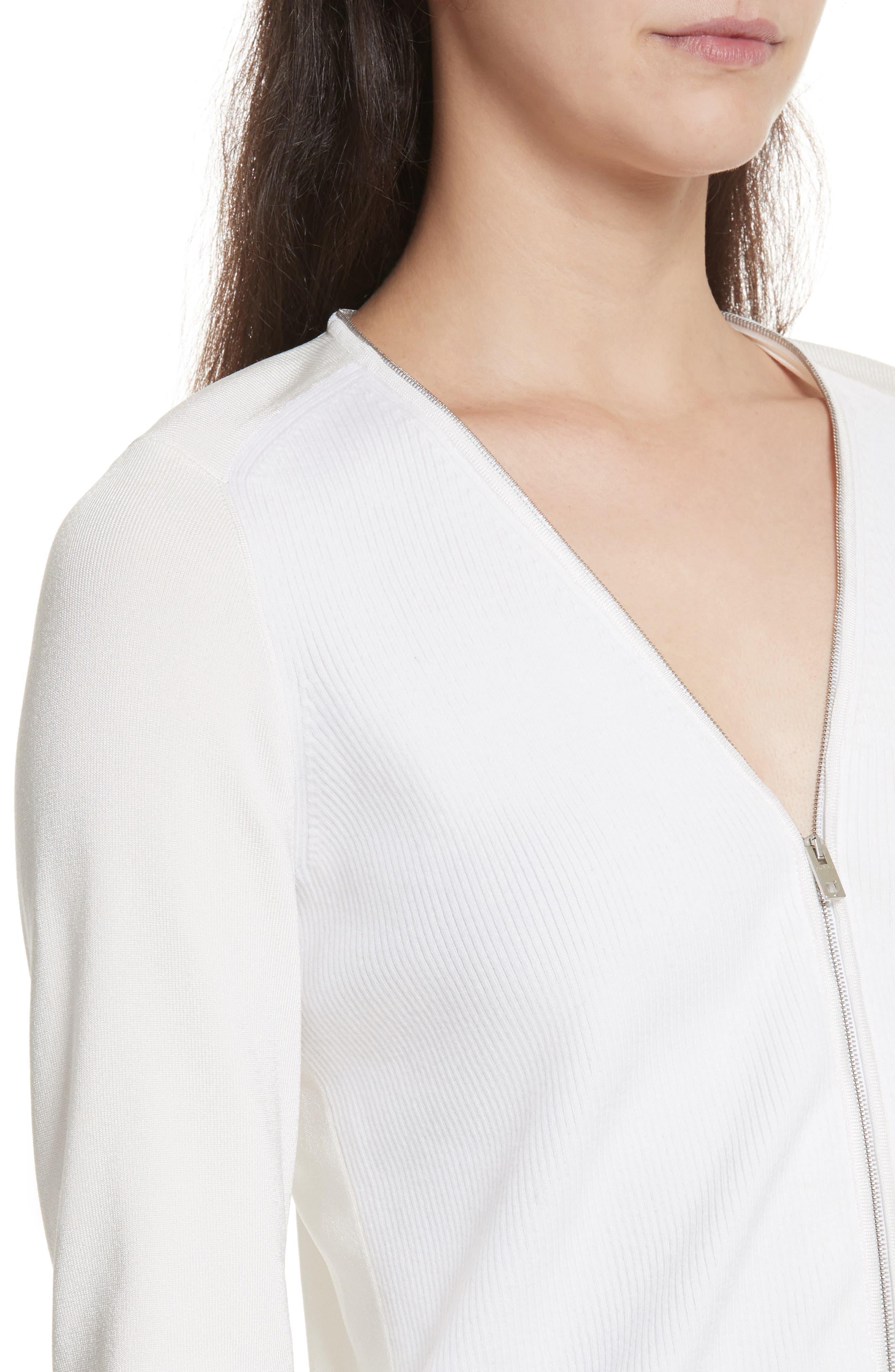 Vivienne Front Zip Sweater,                             Alternate thumbnail 4, color,                             900