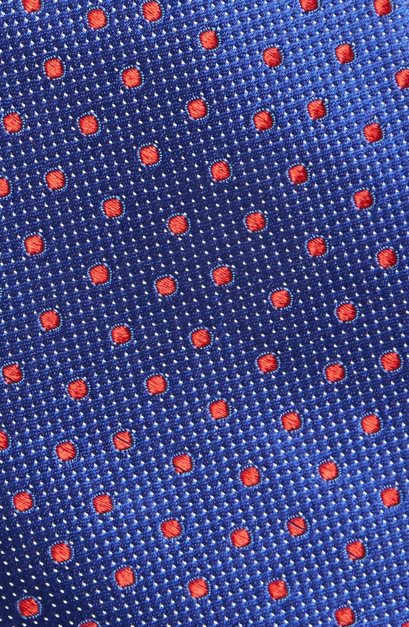 Double Dot Silk Tie,                             Alternate thumbnail 11, color,