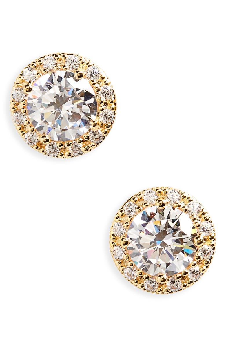 Pavé Round Stud Earrings