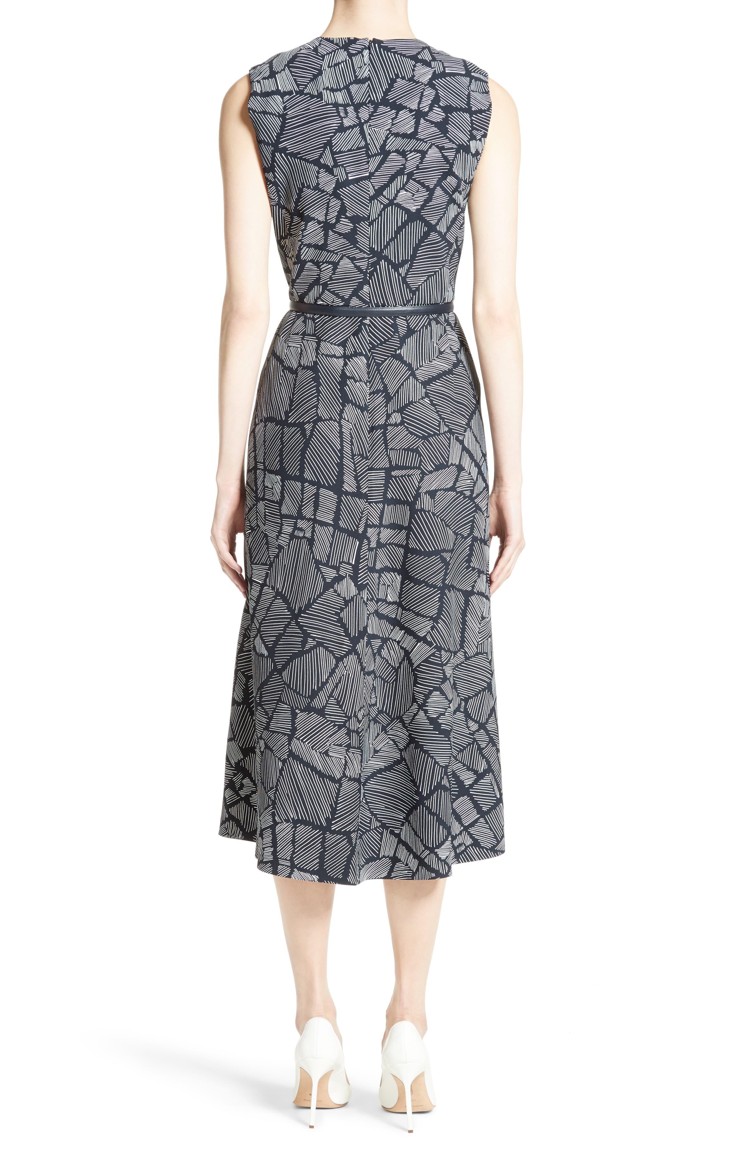 Jasmine Print Midi Dress,                             Alternate thumbnail 2, color,                             411