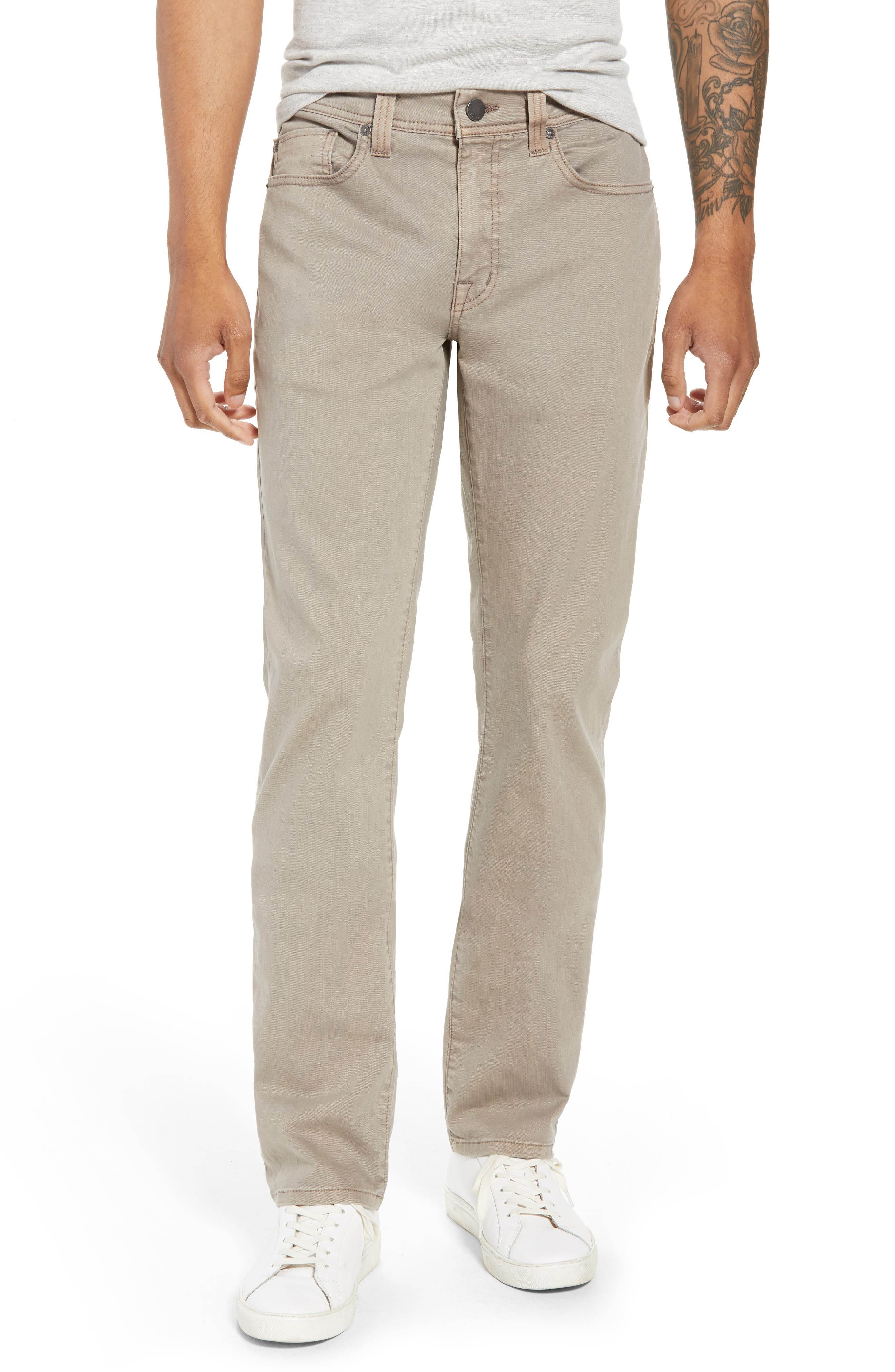 Jimmy Slim Straight Leg Jeans,                             Main thumbnail 1, color,                             KHAKI