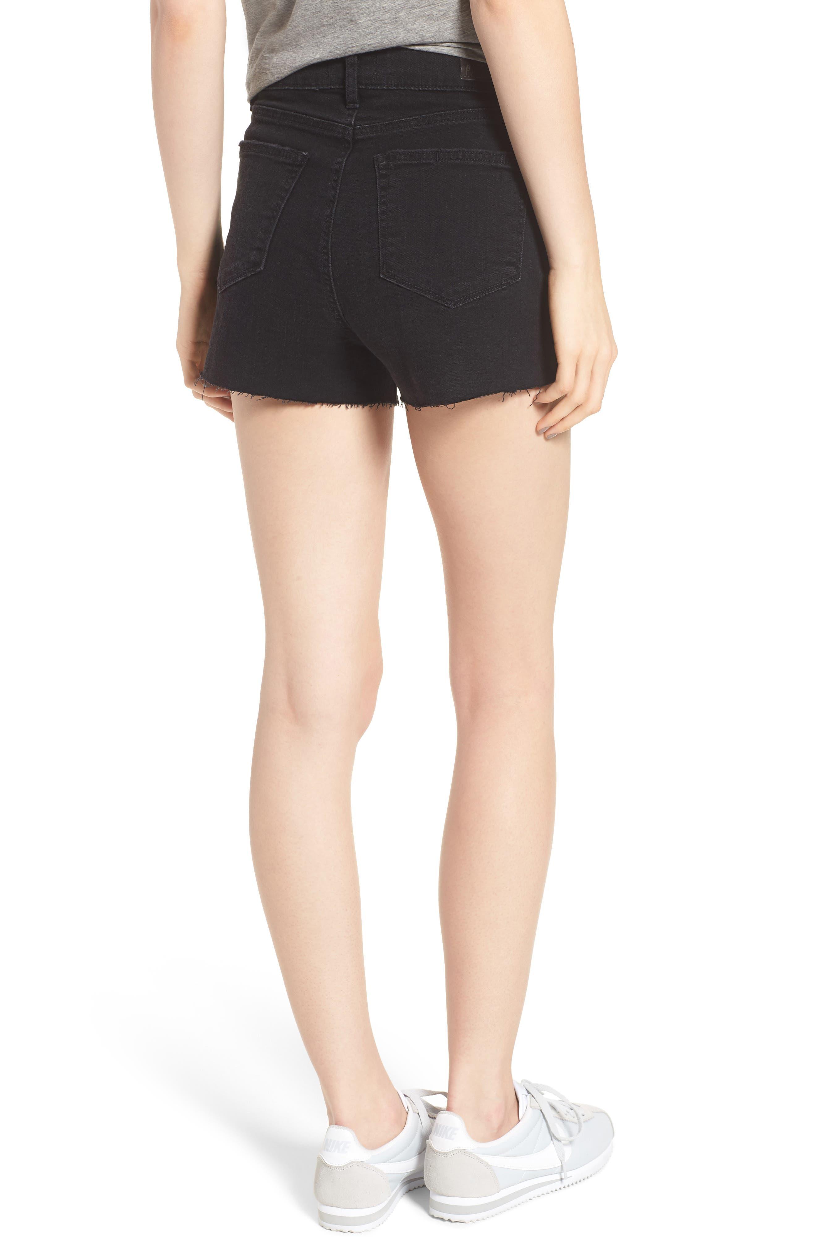 'Margot' High Rise Cutoff Denim Shorts,                             Alternate thumbnail 2, color,                             001