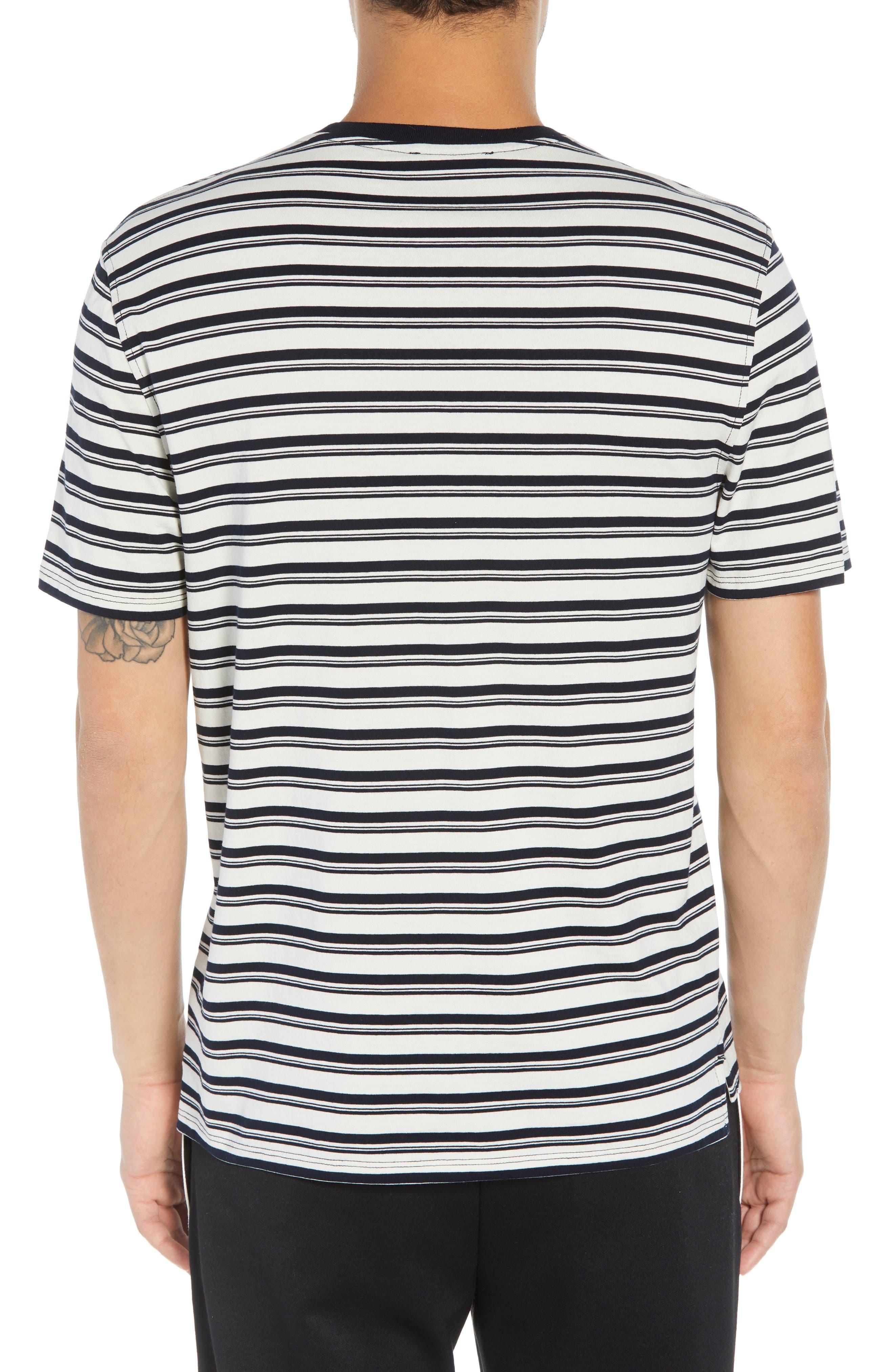 Variegated Stripe Regular Fit Cotton Crewneck T-Shirt,                             Alternate thumbnail 2, color,                             400