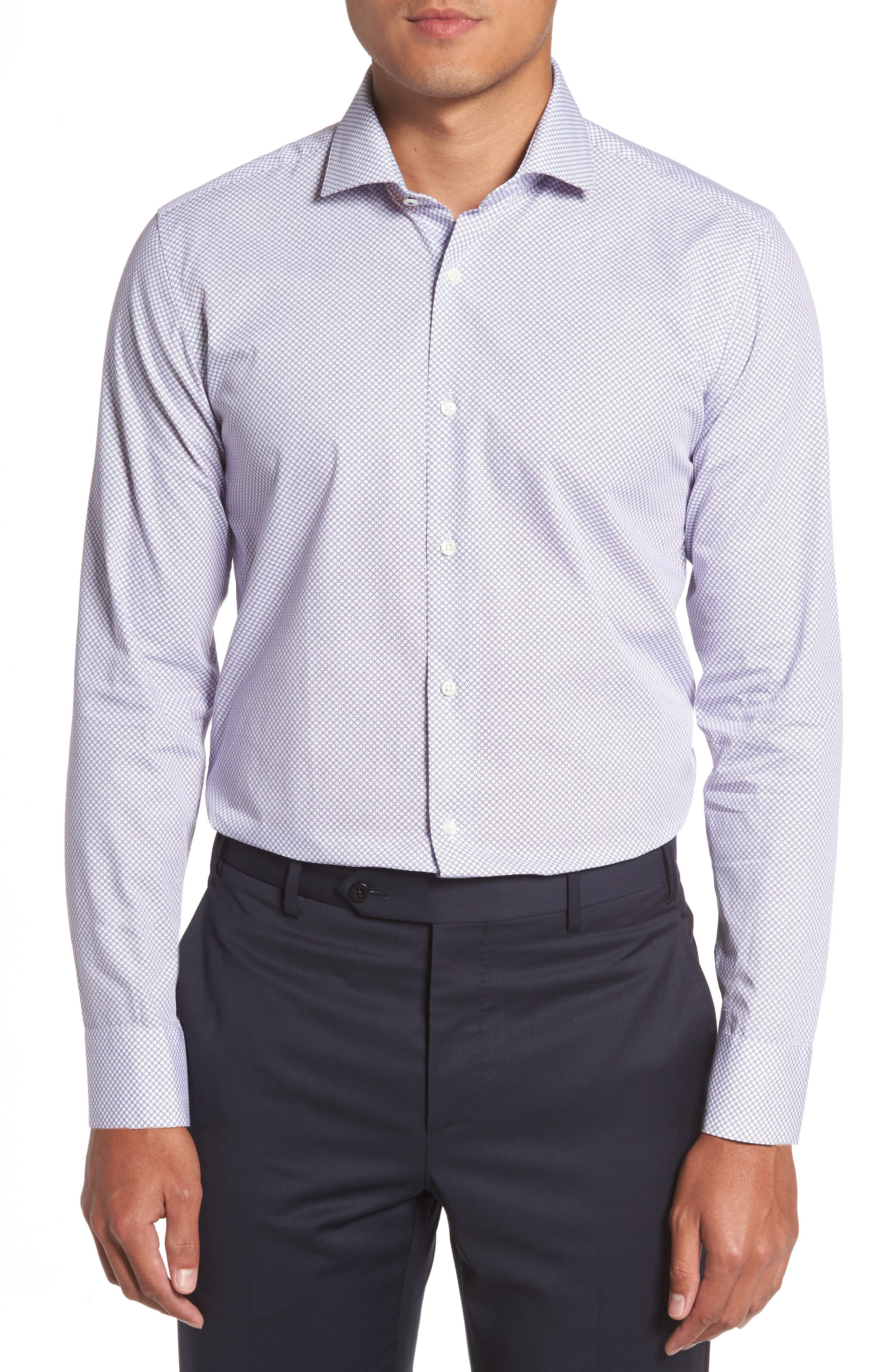 Endurance Sterling Trim Fit Dress Shirt,                             Main thumbnail 2, color,