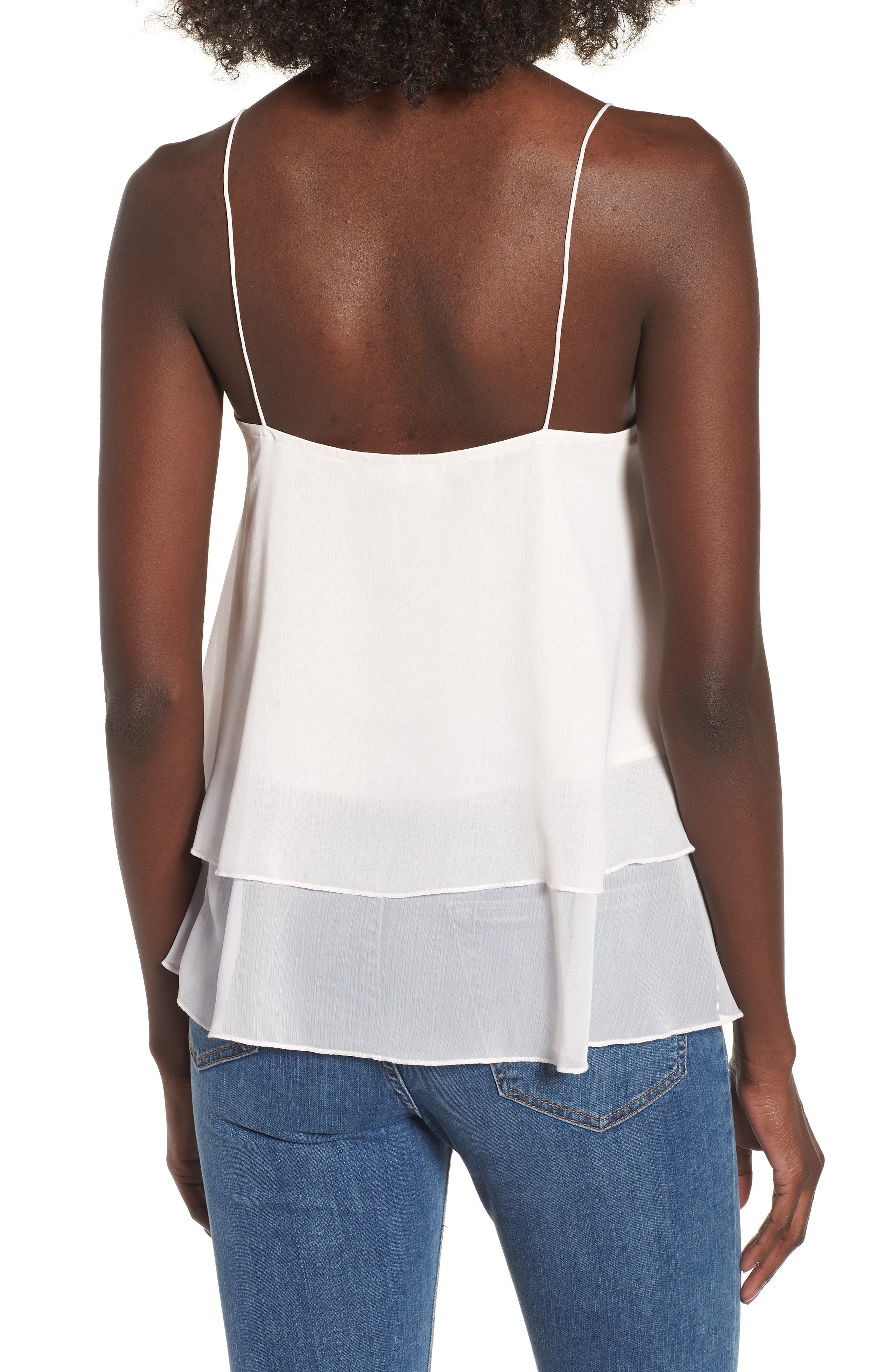 Tiered Chiffon Camisole,                             Alternate thumbnail 6, color,