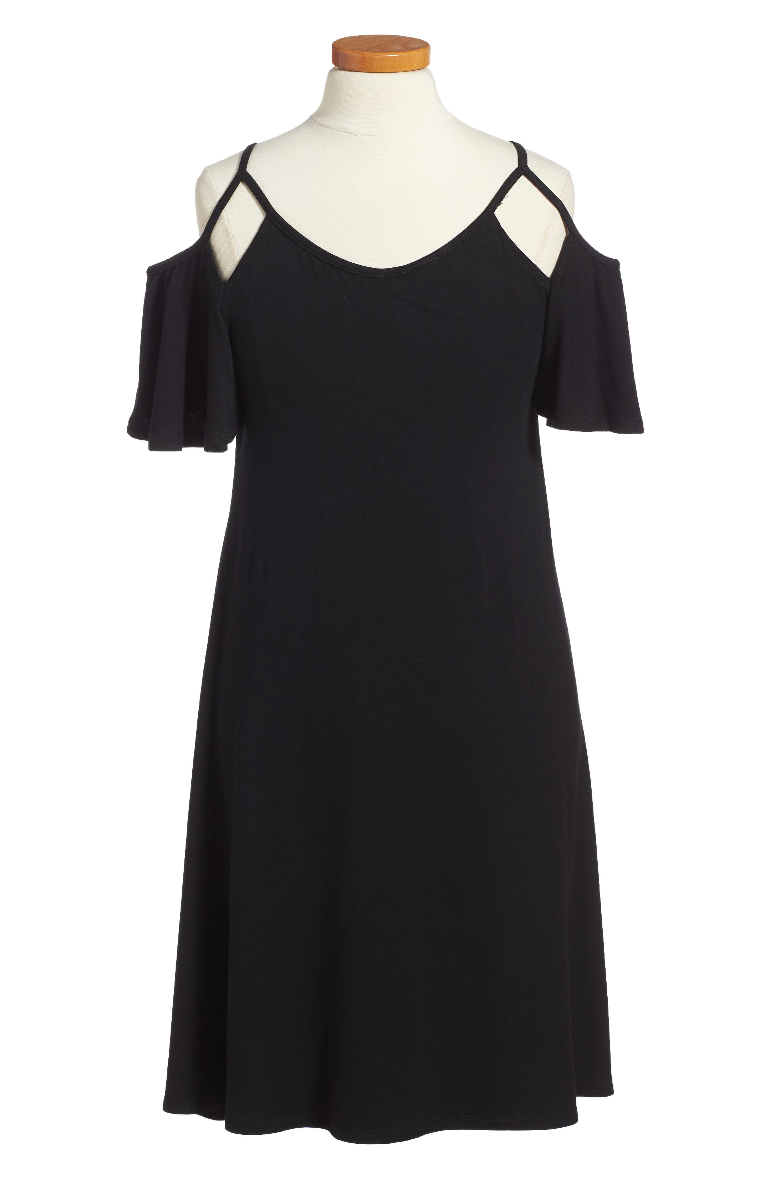 Regine Cold Shoulder Dress,                             Main thumbnail 1, color,                             001