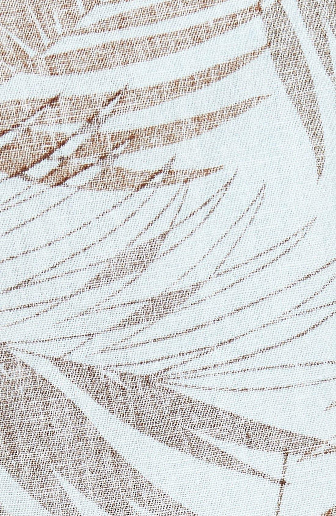 Havana Print Linen Shorts,                             Alternate thumbnail 8, color,