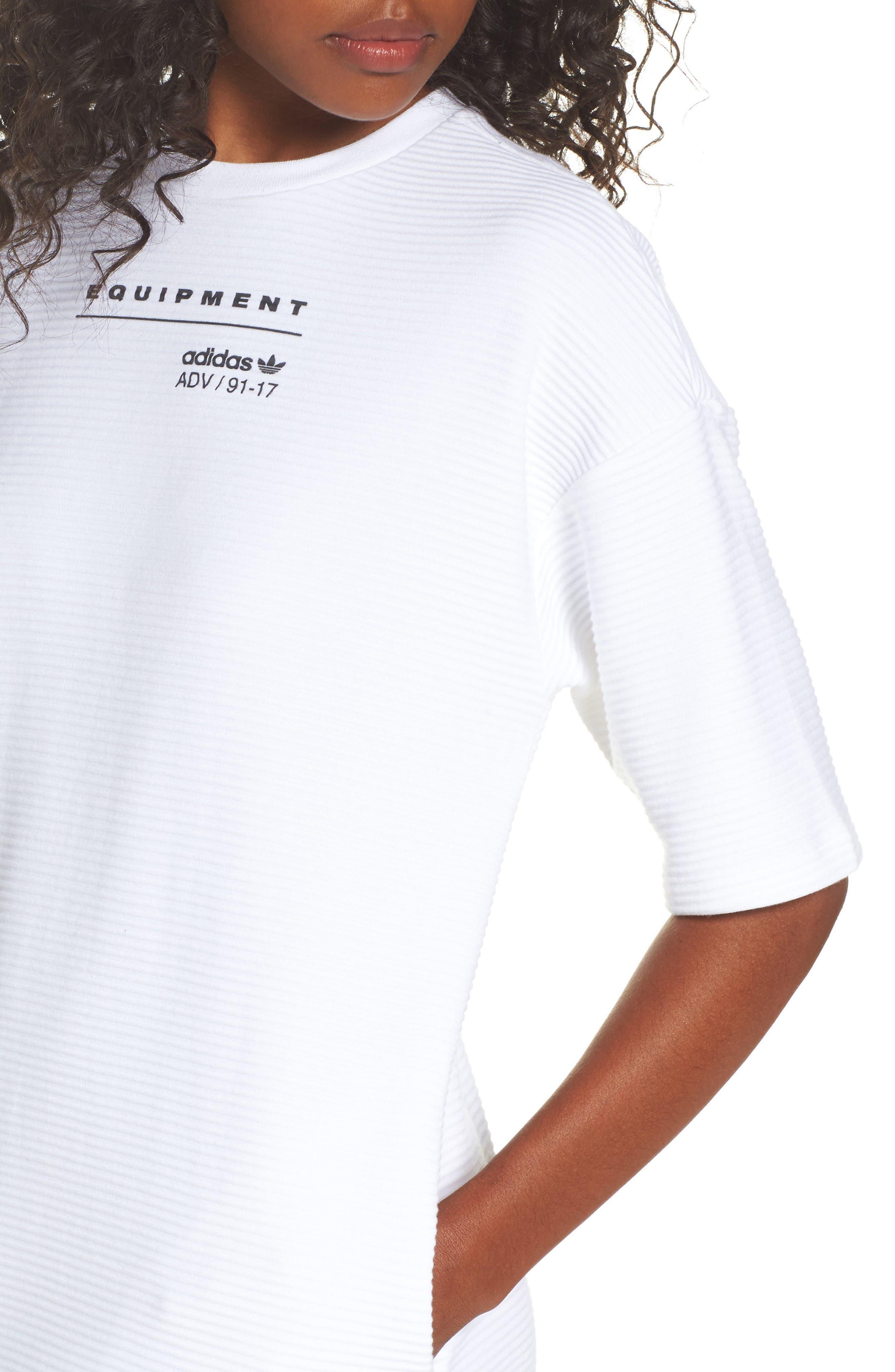 Originals EQT T-Shirt Dress,                             Alternate thumbnail 4, color,                             100