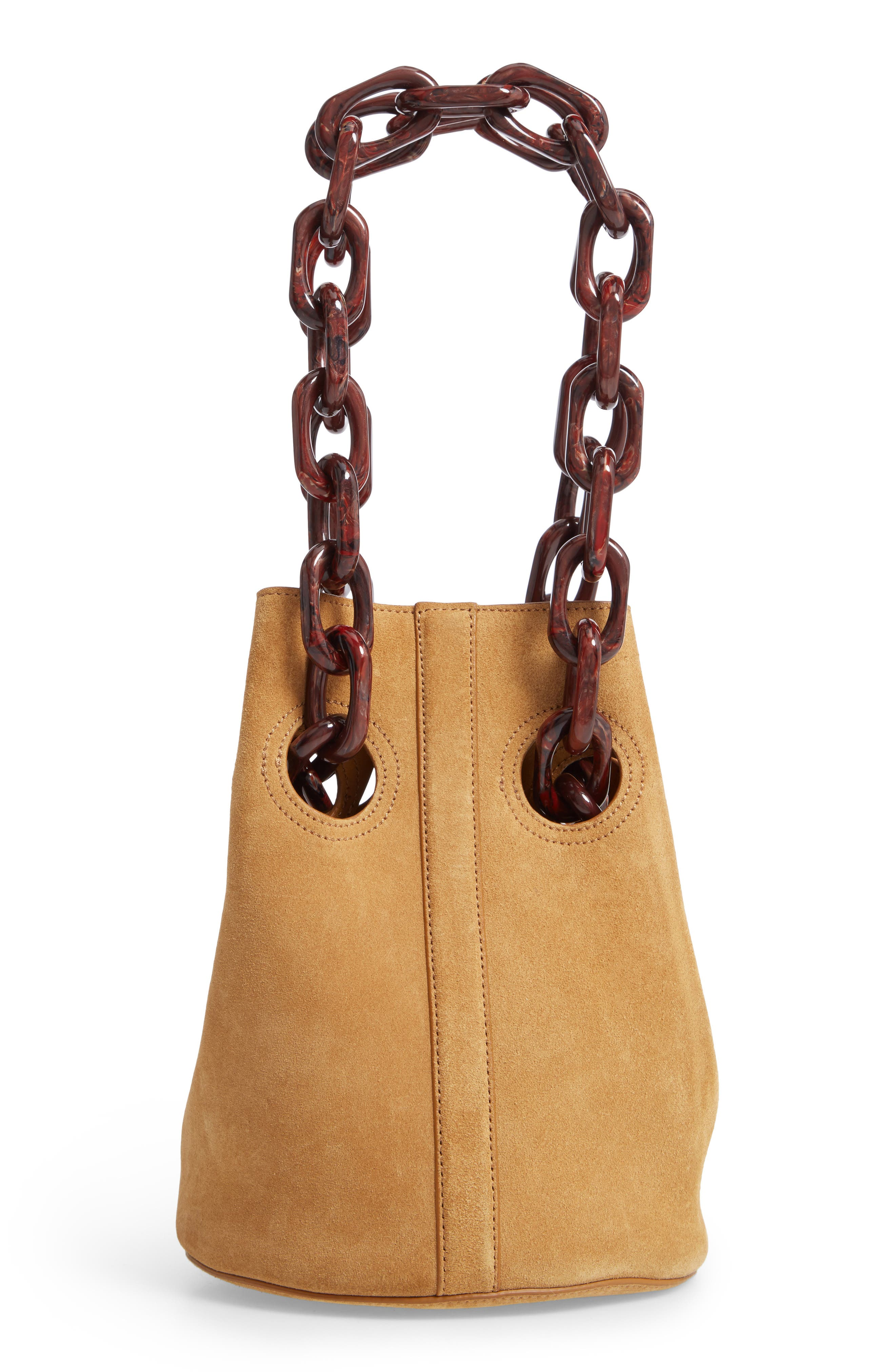 Goodall Leather Bucket Bag,                             Main thumbnail 1, color,                             BEIGE