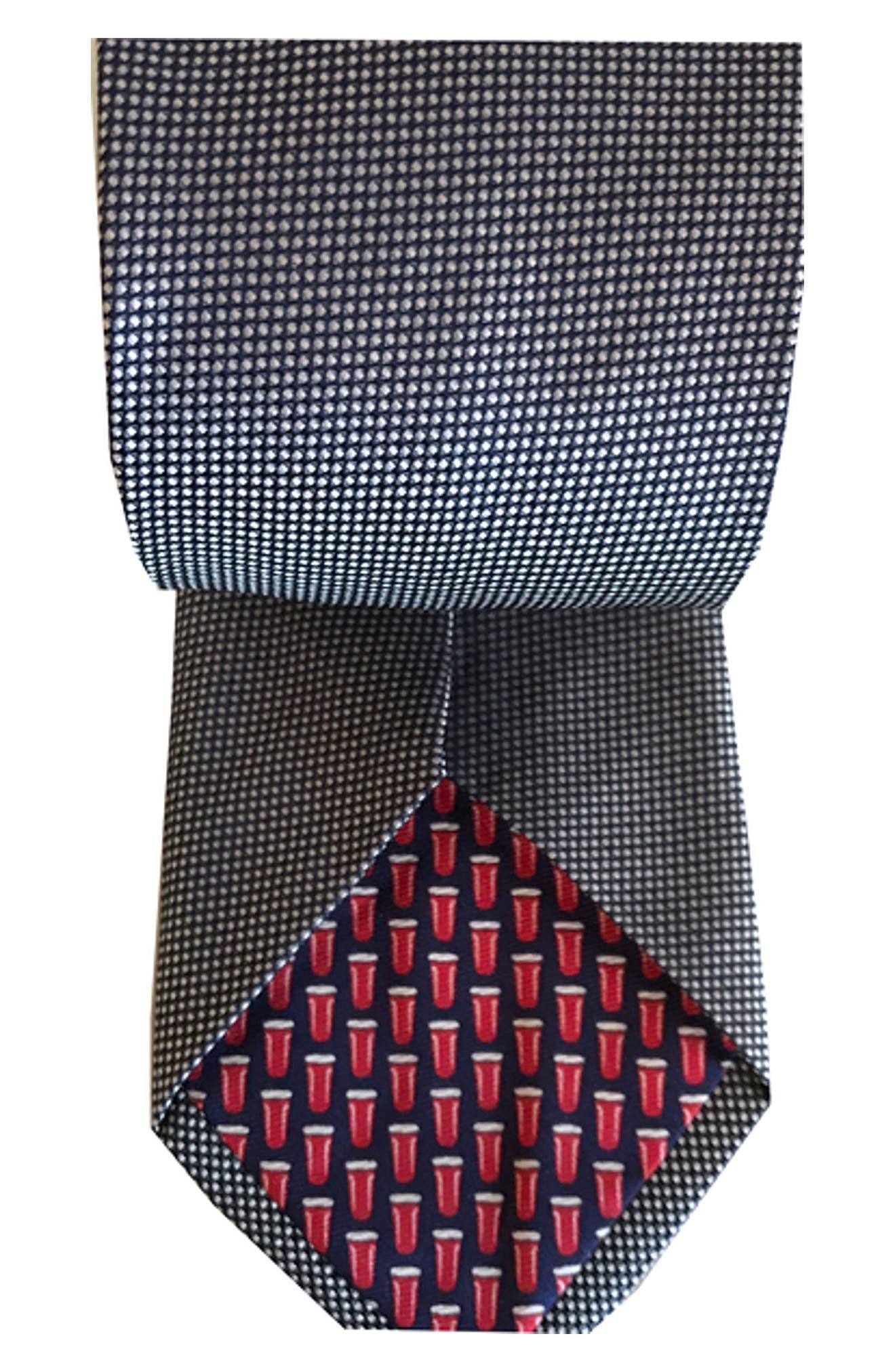 Mullet Silk Tie,                             Alternate thumbnail 2, color,                             NAVY
