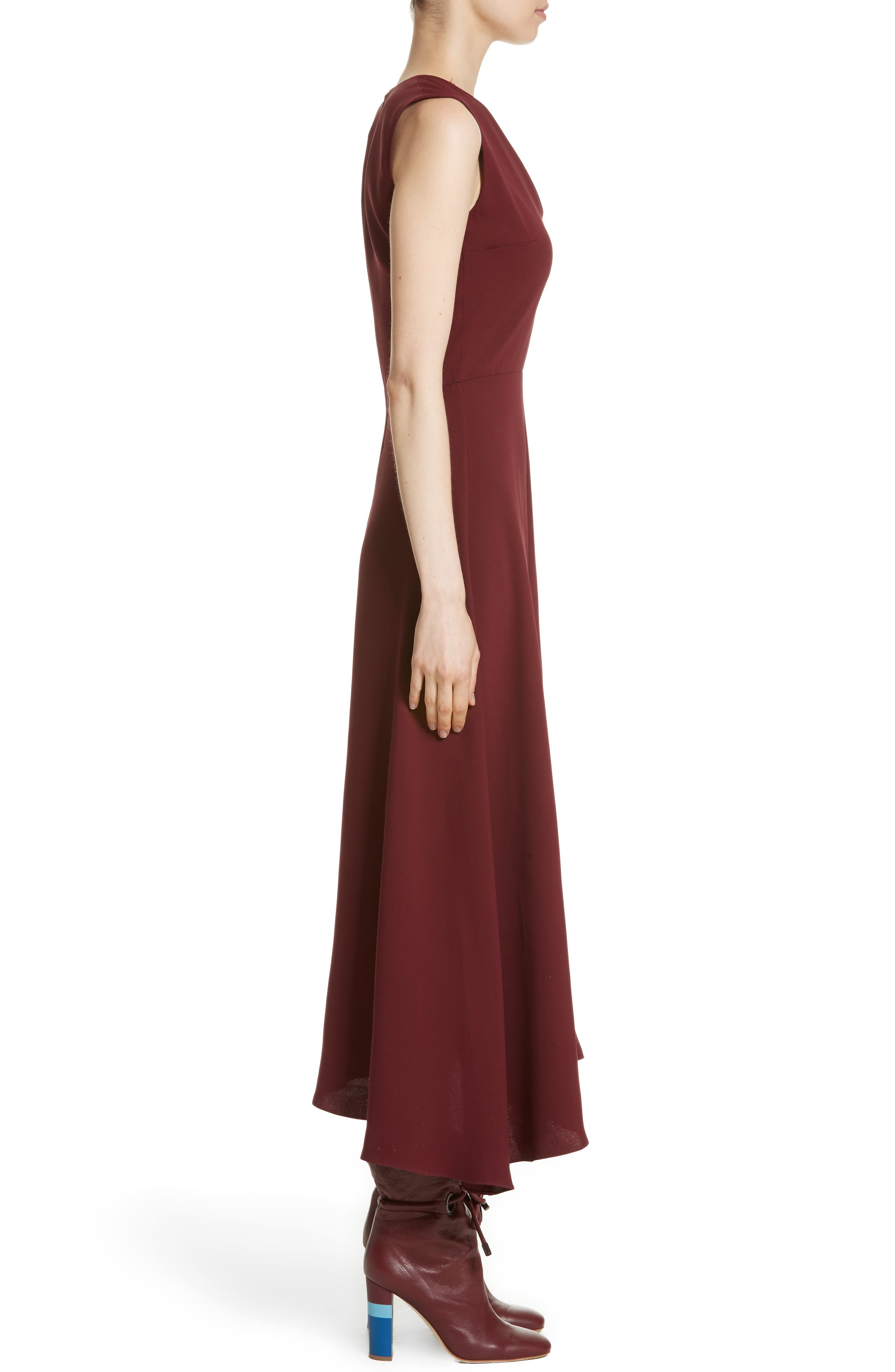 Hiroko Sleeveless Silk Dress,                             Alternate thumbnail 3, color,