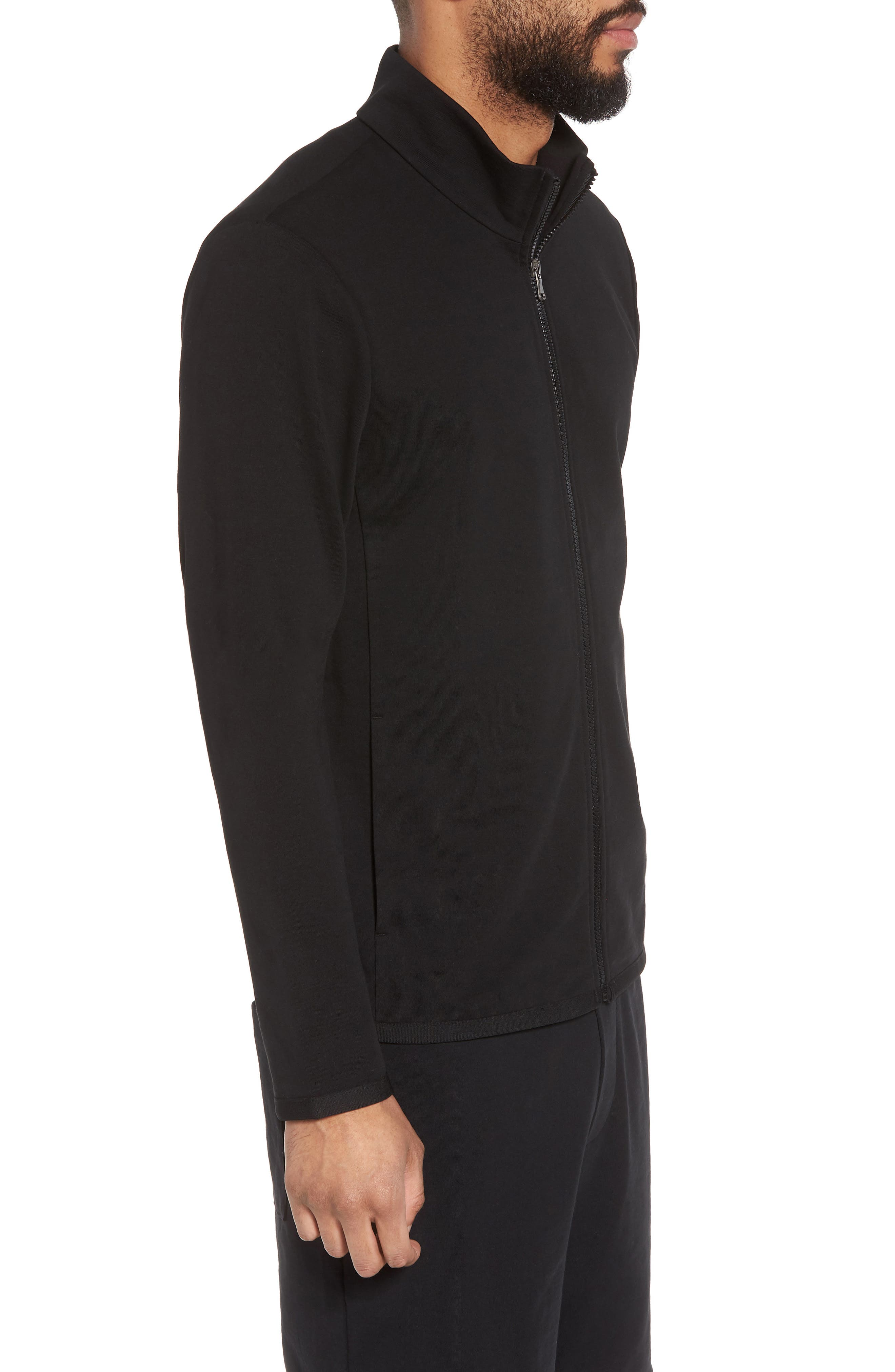 Slim Fit Compact Terry Zip Jacket,                             Alternate thumbnail 5, color,