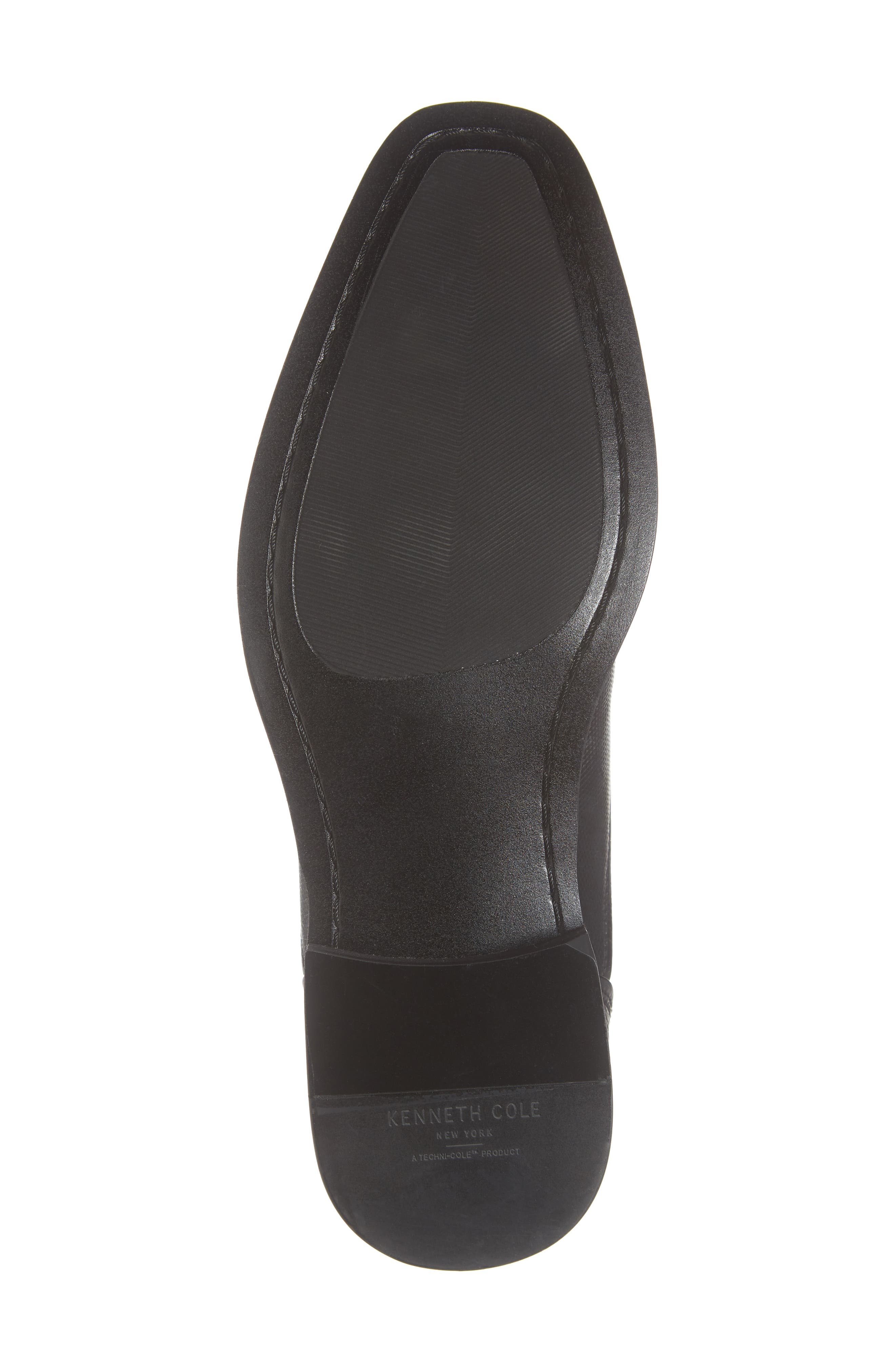 Tyrie Bike Toe Derby,                             Alternate thumbnail 6, color,                             BLACK LEATHER