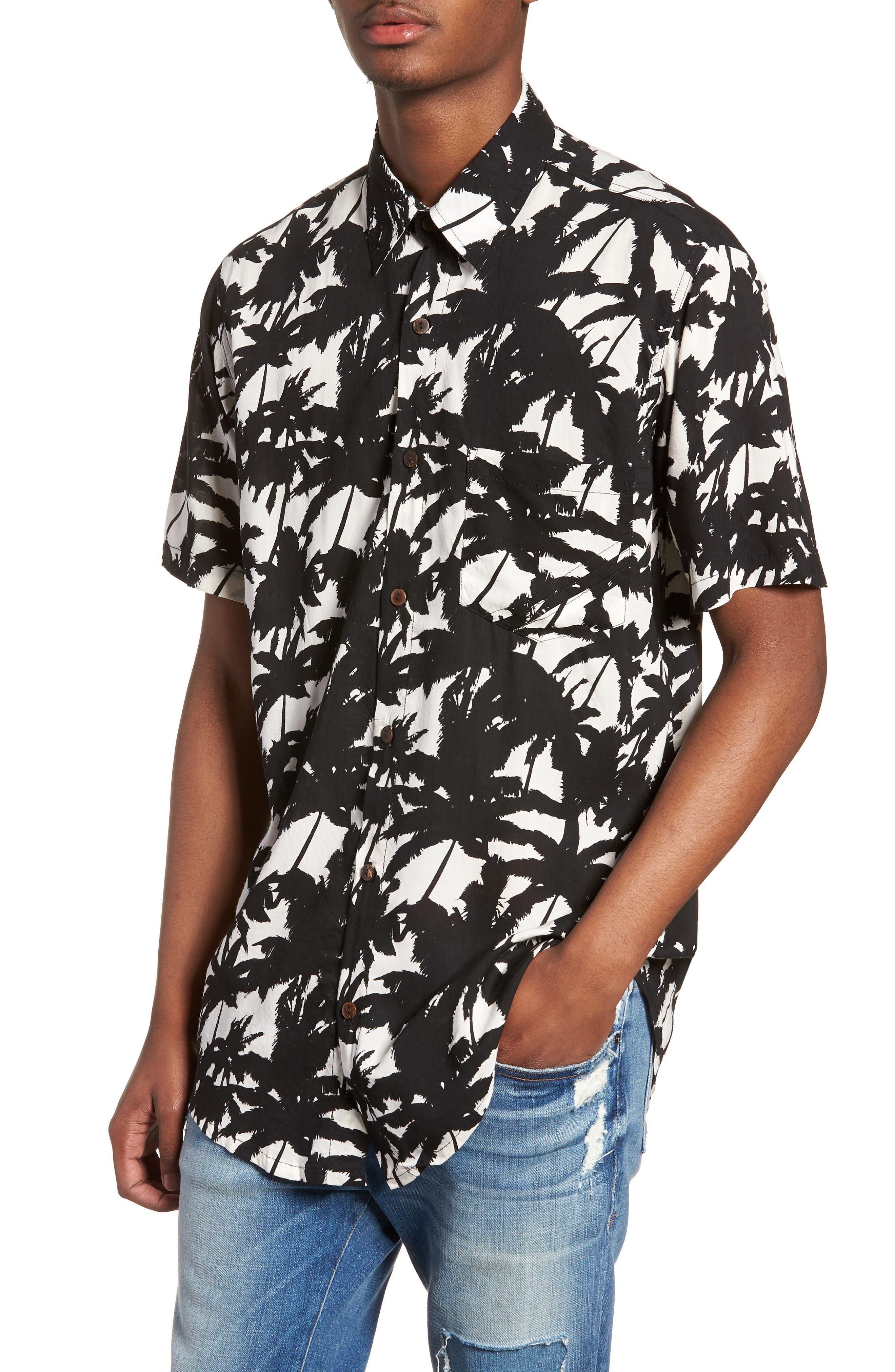 Stevie Woven Shirt,                             Main thumbnail 1, color,                             VENICE