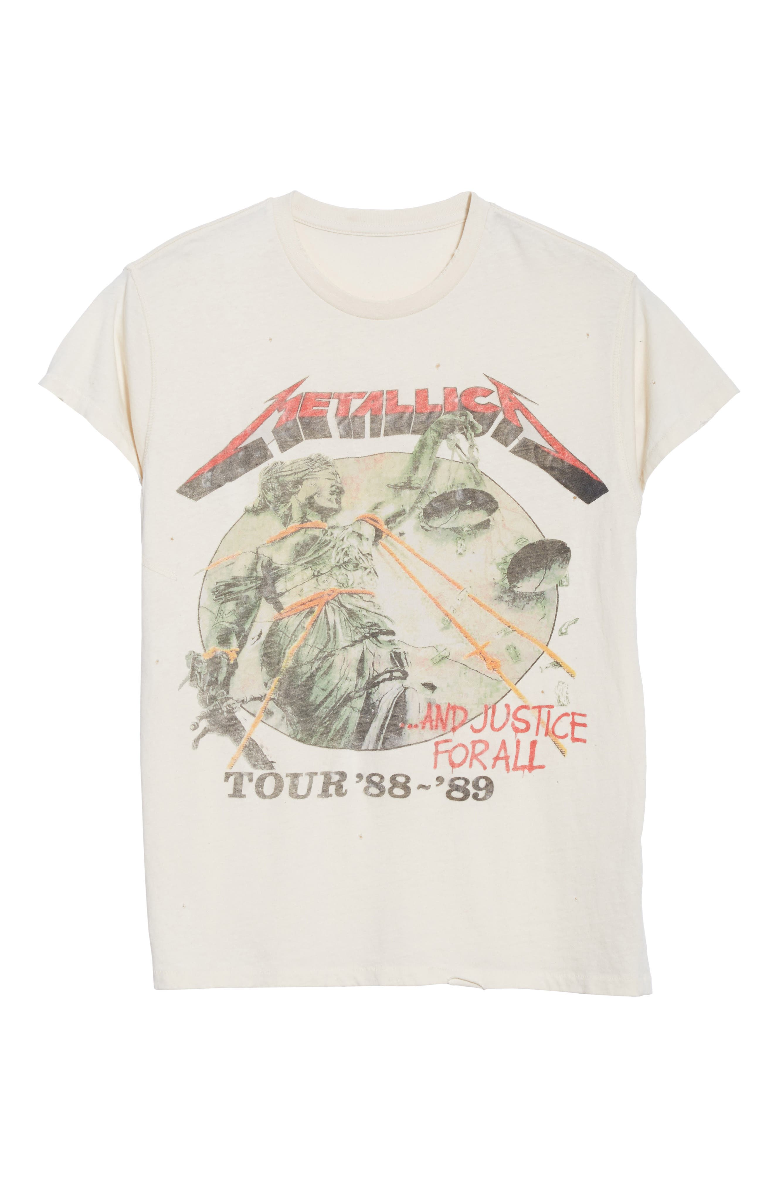 Metallica - And Justice for All Graphic T-Shirt,                             Alternate thumbnail 6, color,                             100