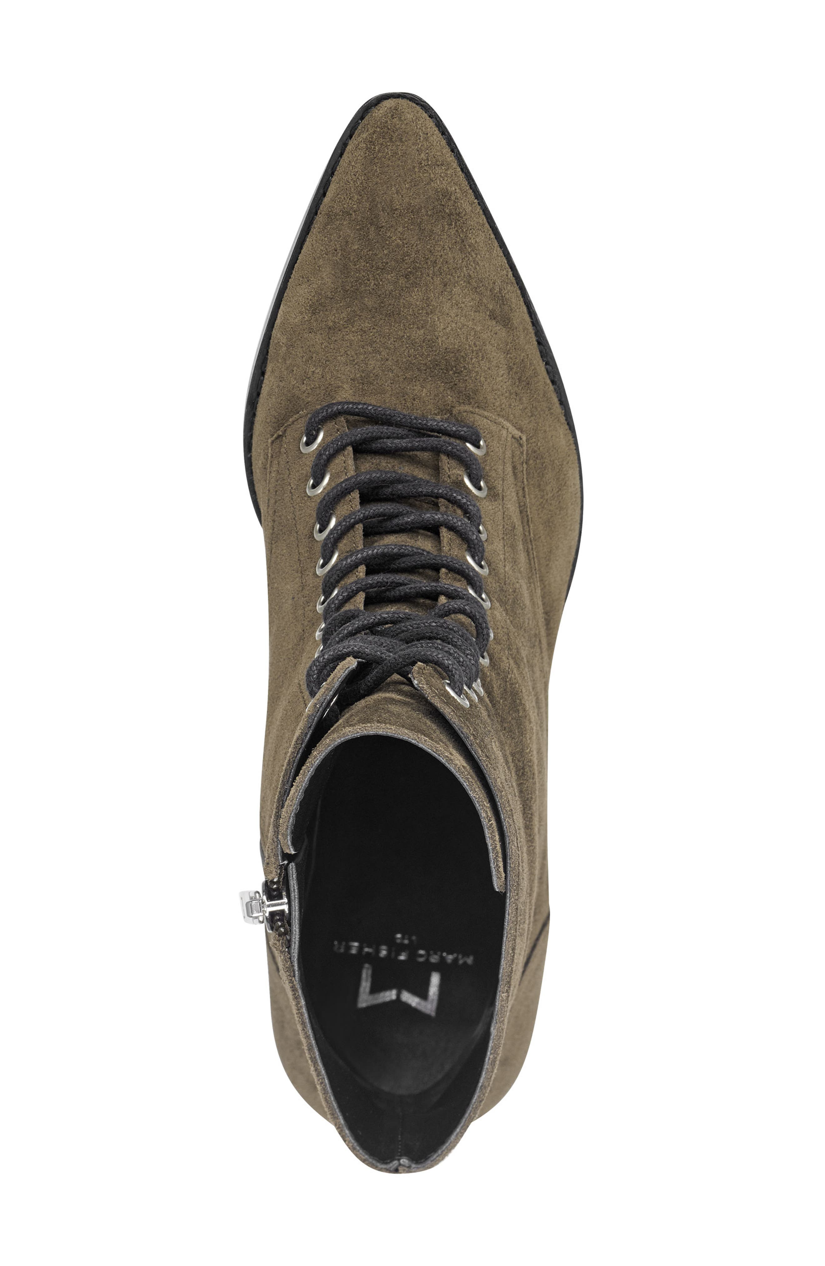 Bowie Lace-Up Boot,                             Alternate thumbnail 5, color,                             OLIVE SUEDE